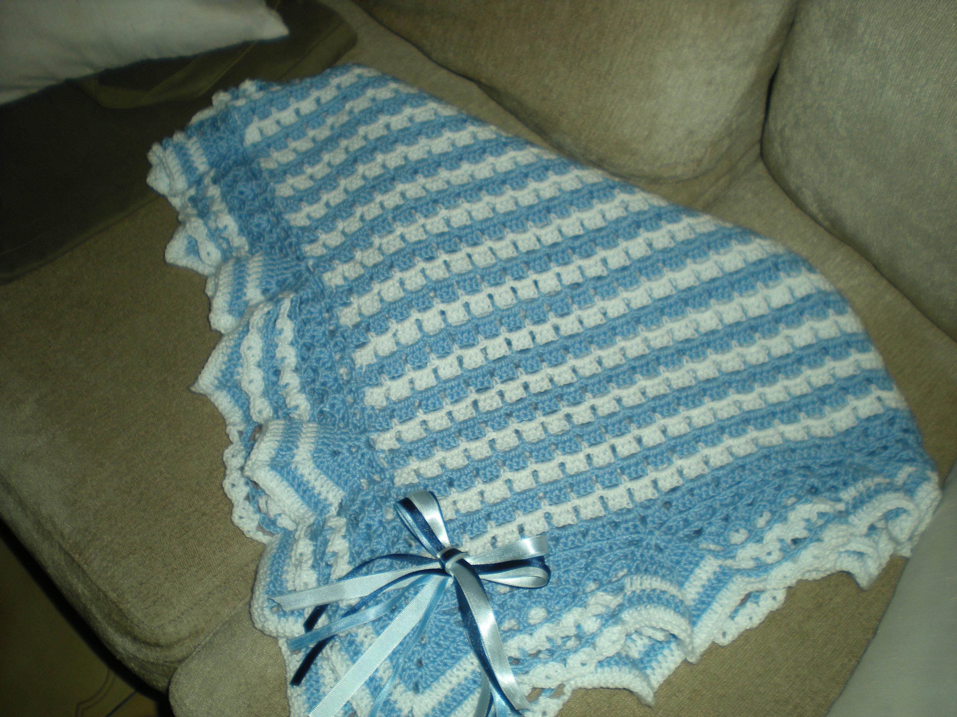 Manta para beb em croch croches da regina elo7 - Mantas de bebe hechas a ganchillo ...