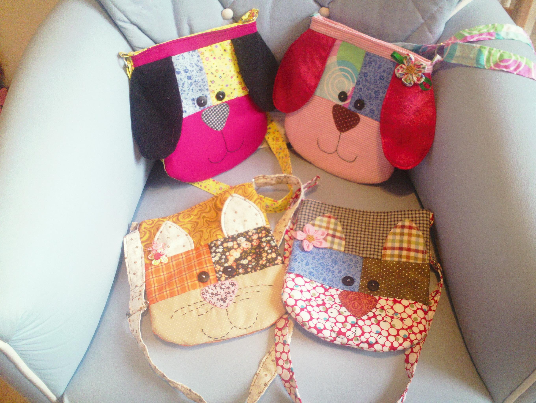 Bolsa Para Lapis Em Tecido : Bolsa tiracolo infantil de bichinho tagarellas patchwork