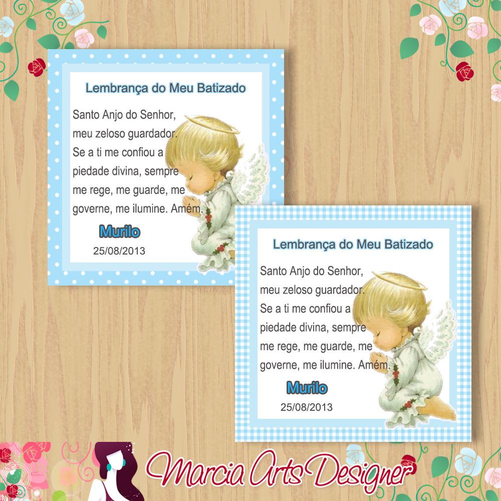 Armario Horizontal Inox ~ Adesivo para lembrancinha Batizado Marcia Arts Designer Elo7