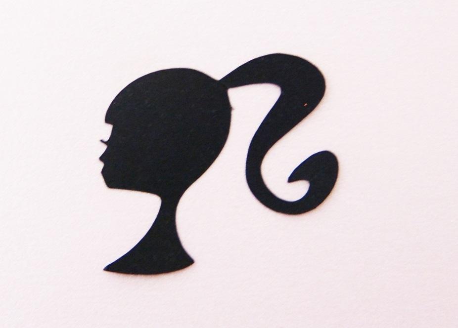 Aplique Barbie - Preto | F&Y Arte | Elo7