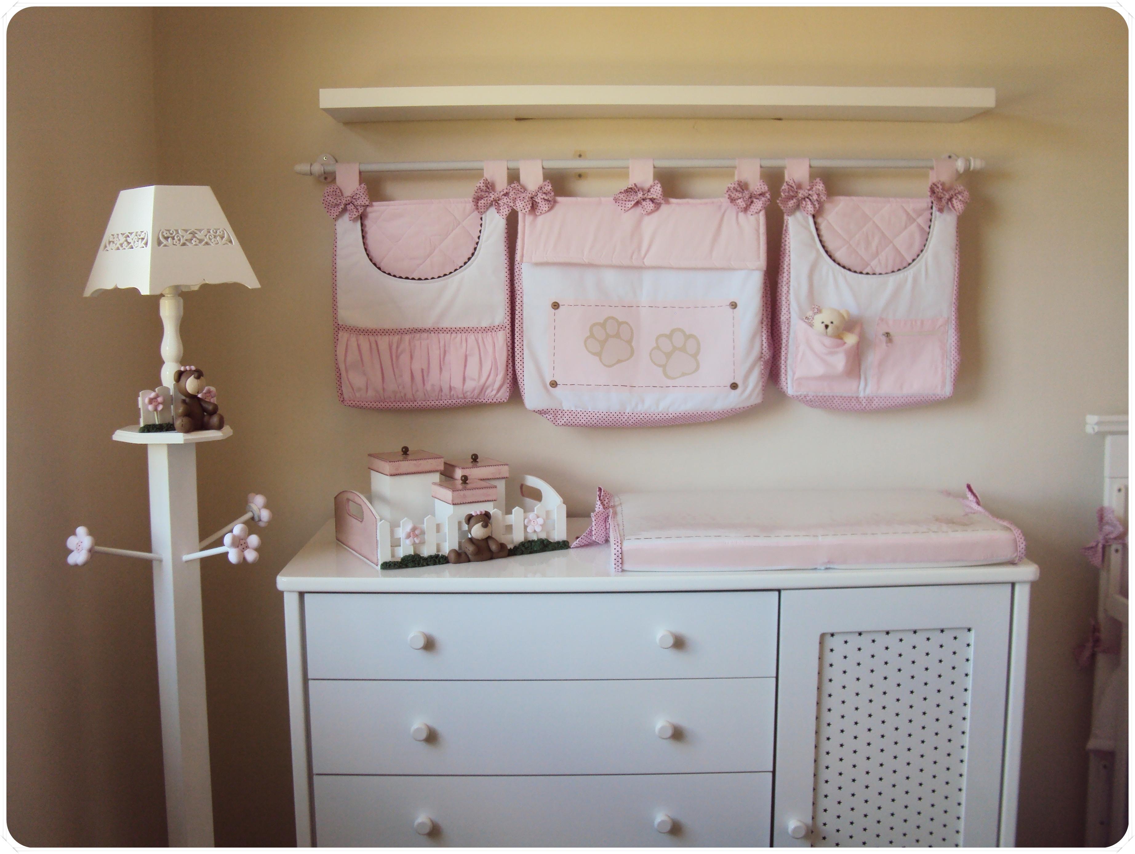 quarto de bebê ursinha rosa e marrom Mabless Elo7 ~ Quarto Rosa Marrom