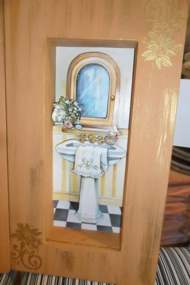 Kit pia e banheira  Aromas da Serra  Elo7 -> Jogo De Banheiro Pia E Vaso