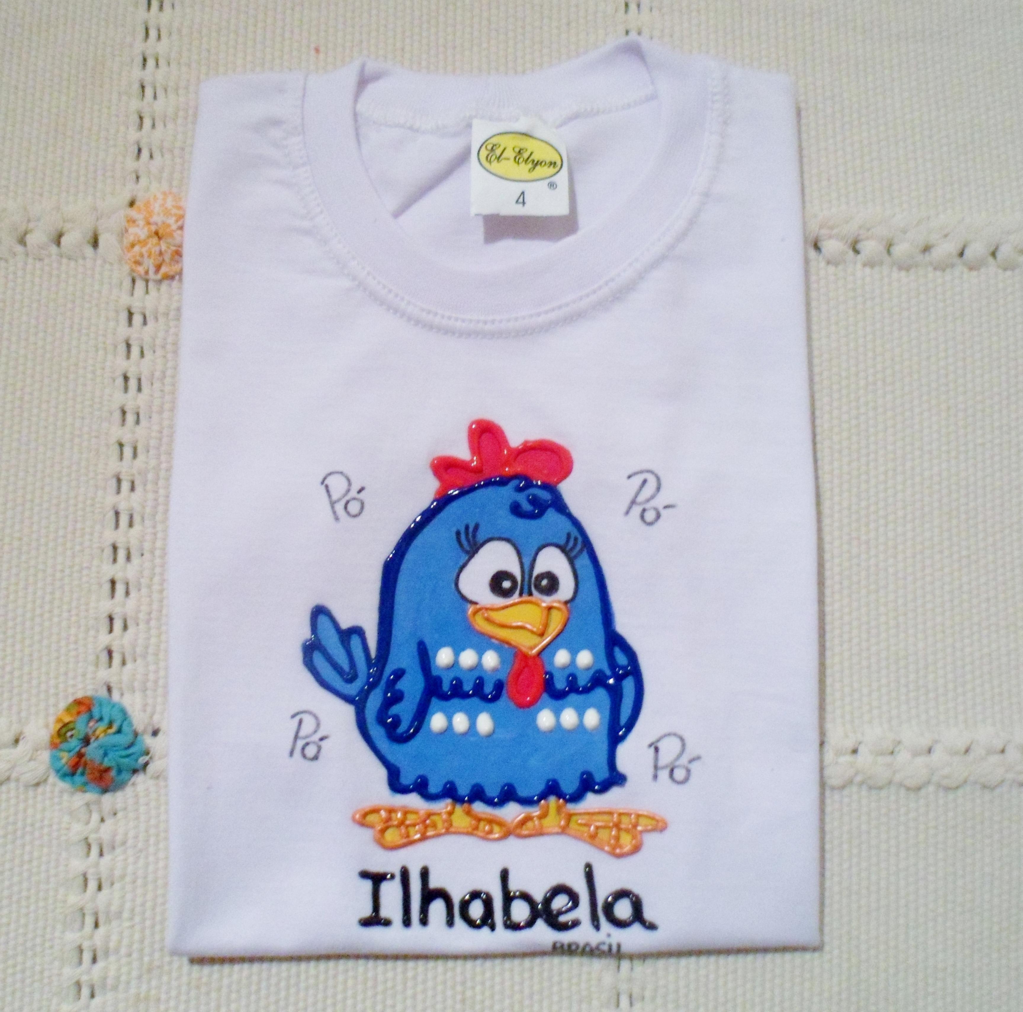 Camiseta galinha pintadinha alto relevo juju artes - Pintura para camisetas ...