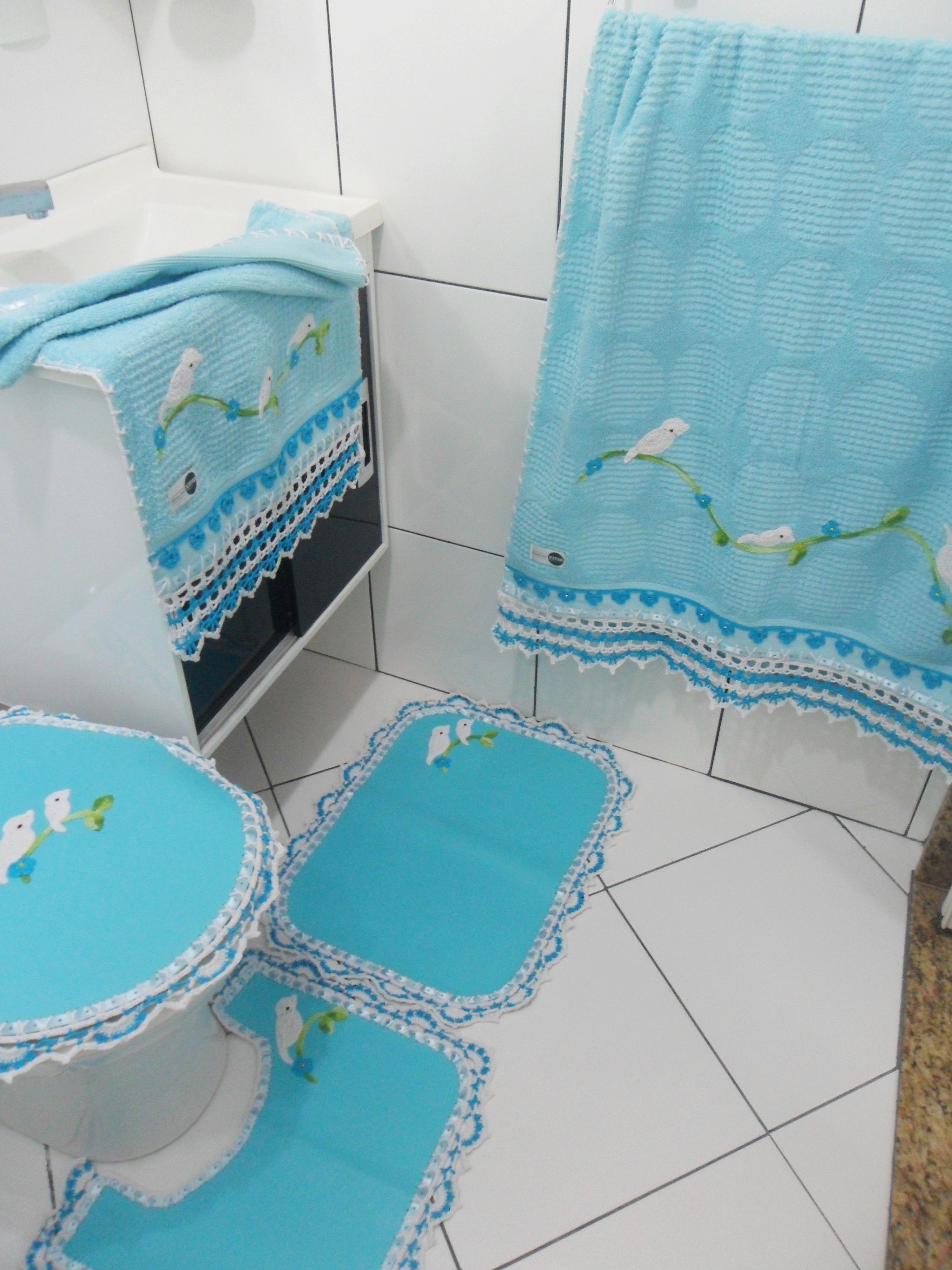 Jogo Banheiro Passarinho Azul Passaro Luxo Completo #348797 3000x4000 Banheiro Azul