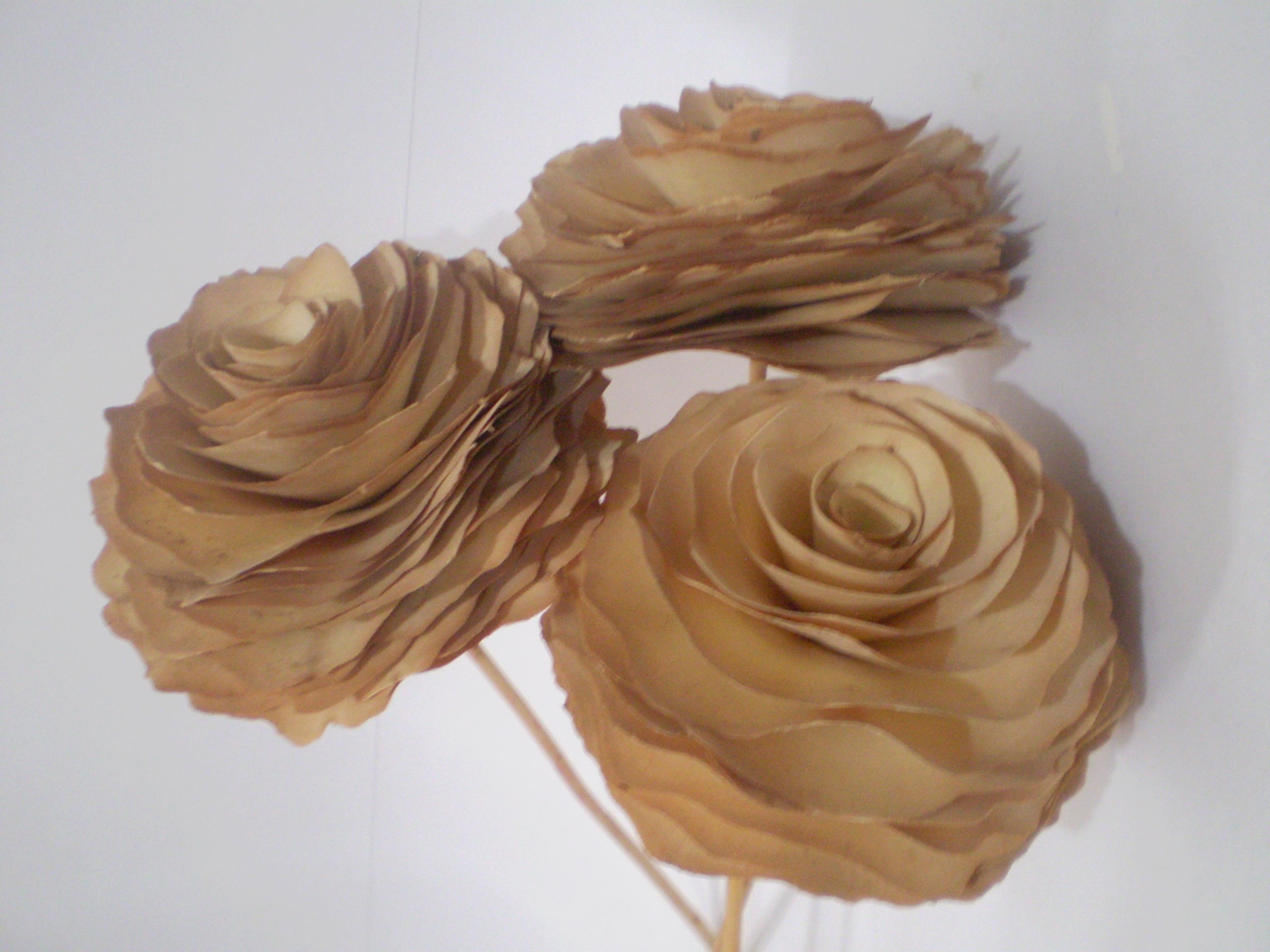 Artesanato Girassol Pedreira ~ Flor de Madeira P Natural Stock Aromata Elo7