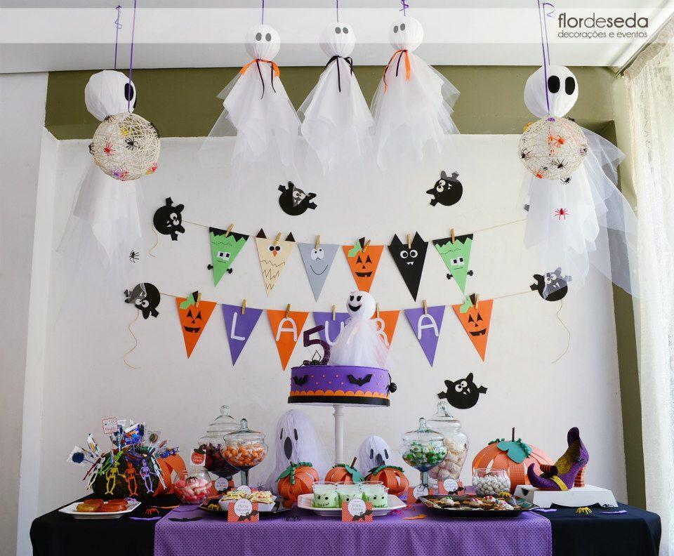 Decoraç u00e3o dia das bruxas Halloween Flor de Seda Eventos Elo7
