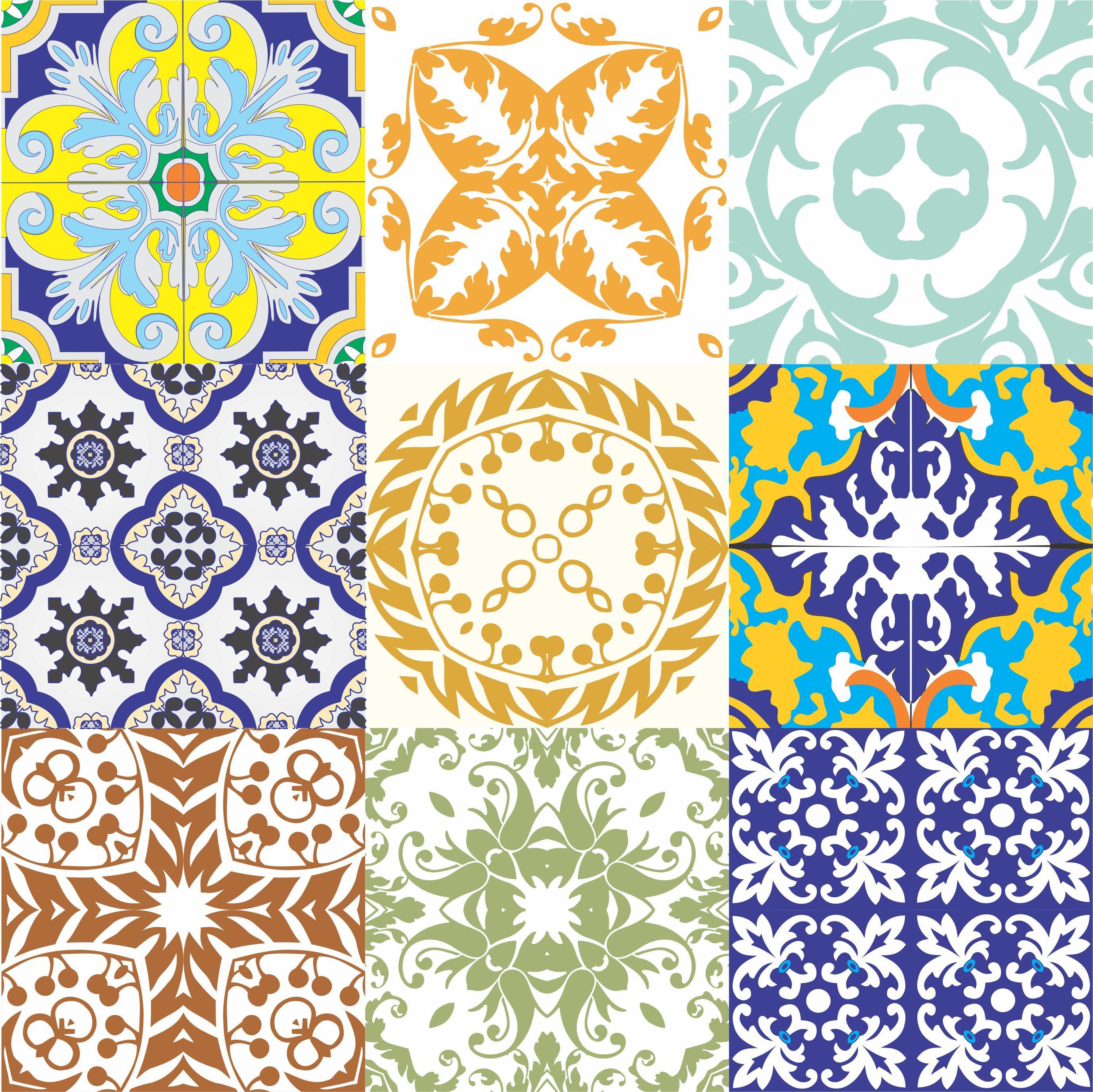 Adesivo Azulejo Antigo. Frete Grátis On The UAU! Adesivos Azulejos  #0791C4 2757x2754 Banheiro Com Adesivo De Azulejo