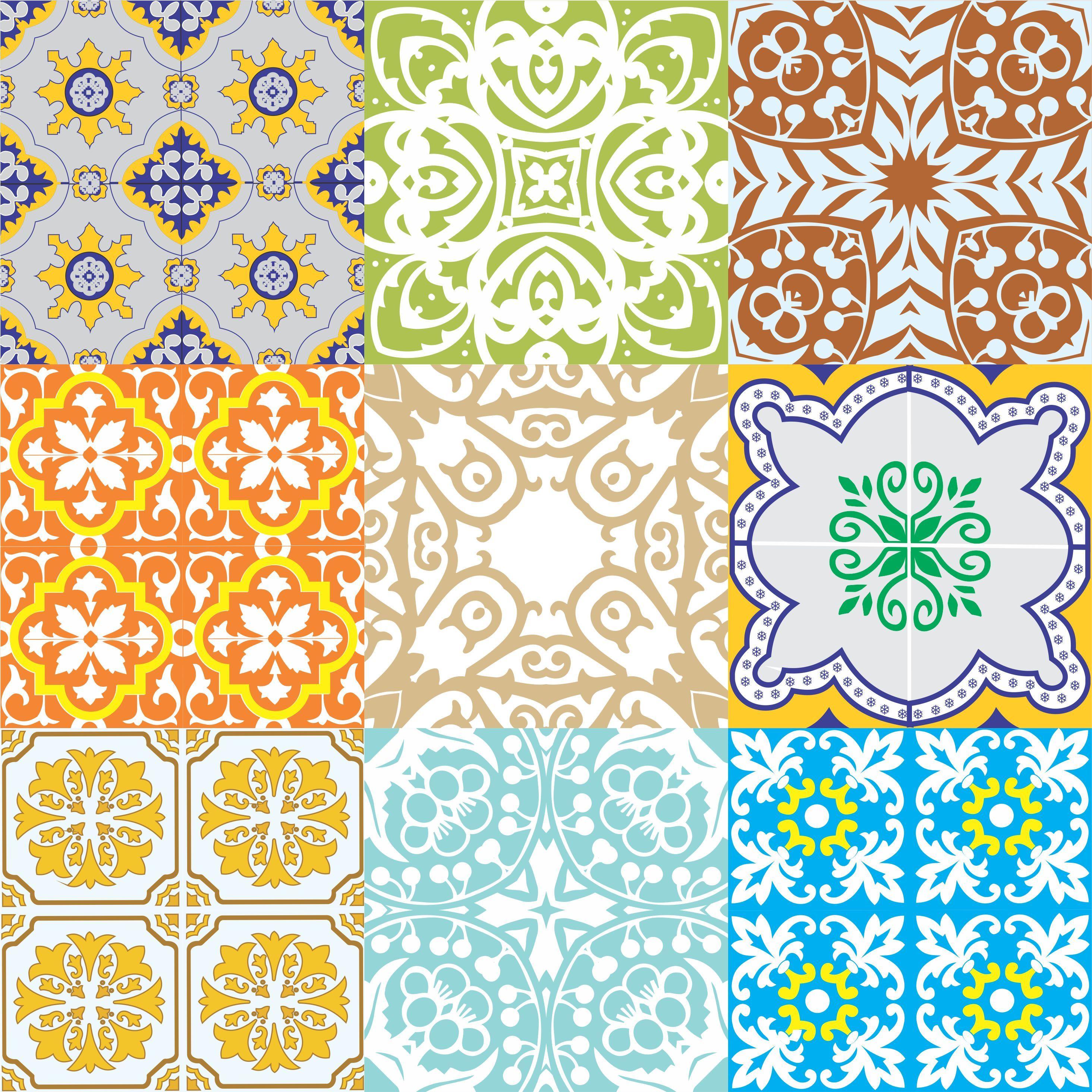Kit adesivo azulejo antigo frete gr tis on the uau for Azulejo 15x15