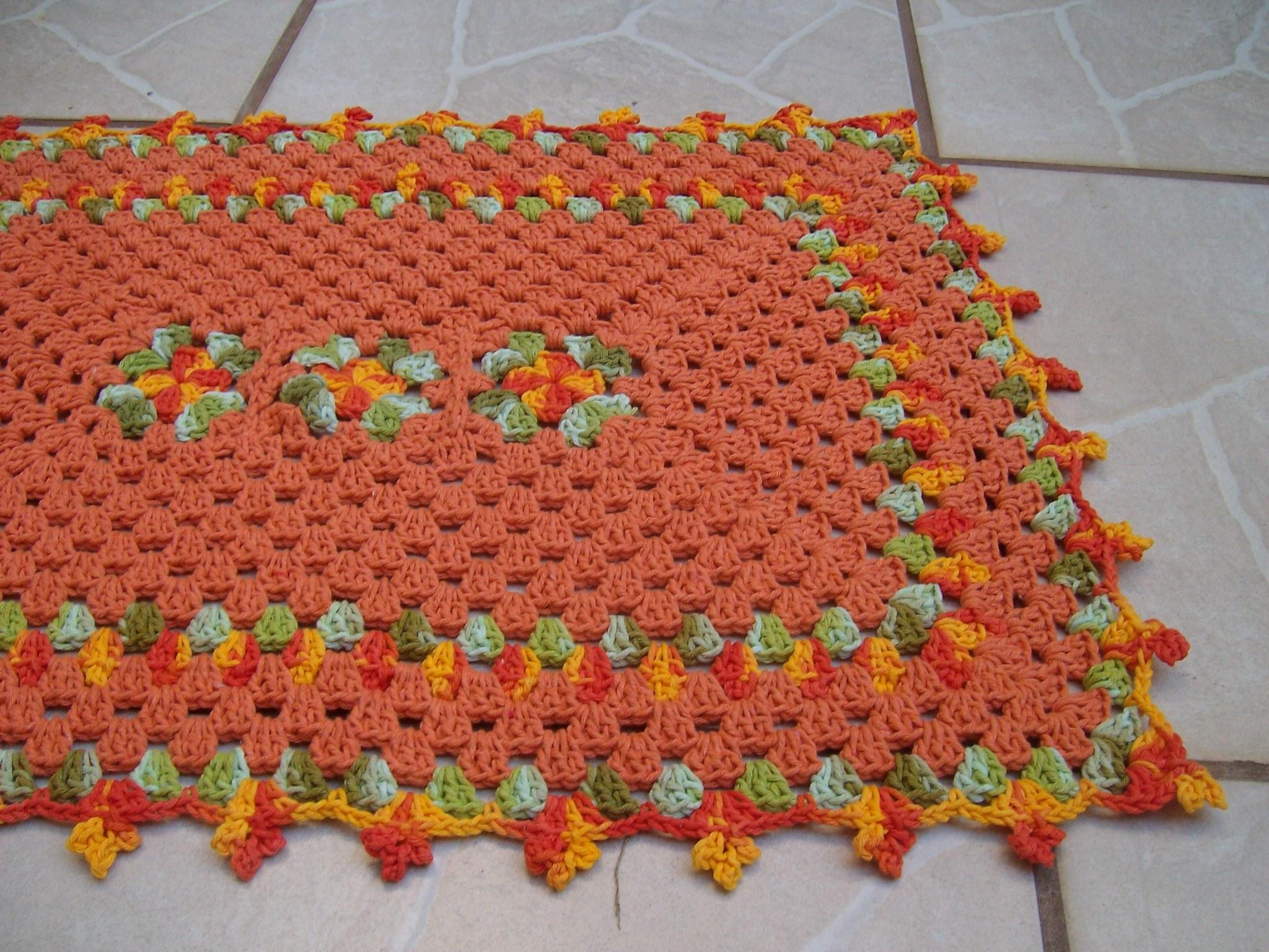 fotos de tapetes de barbantes com flor redondo simples oval fotos #8D3824 2048 1536
