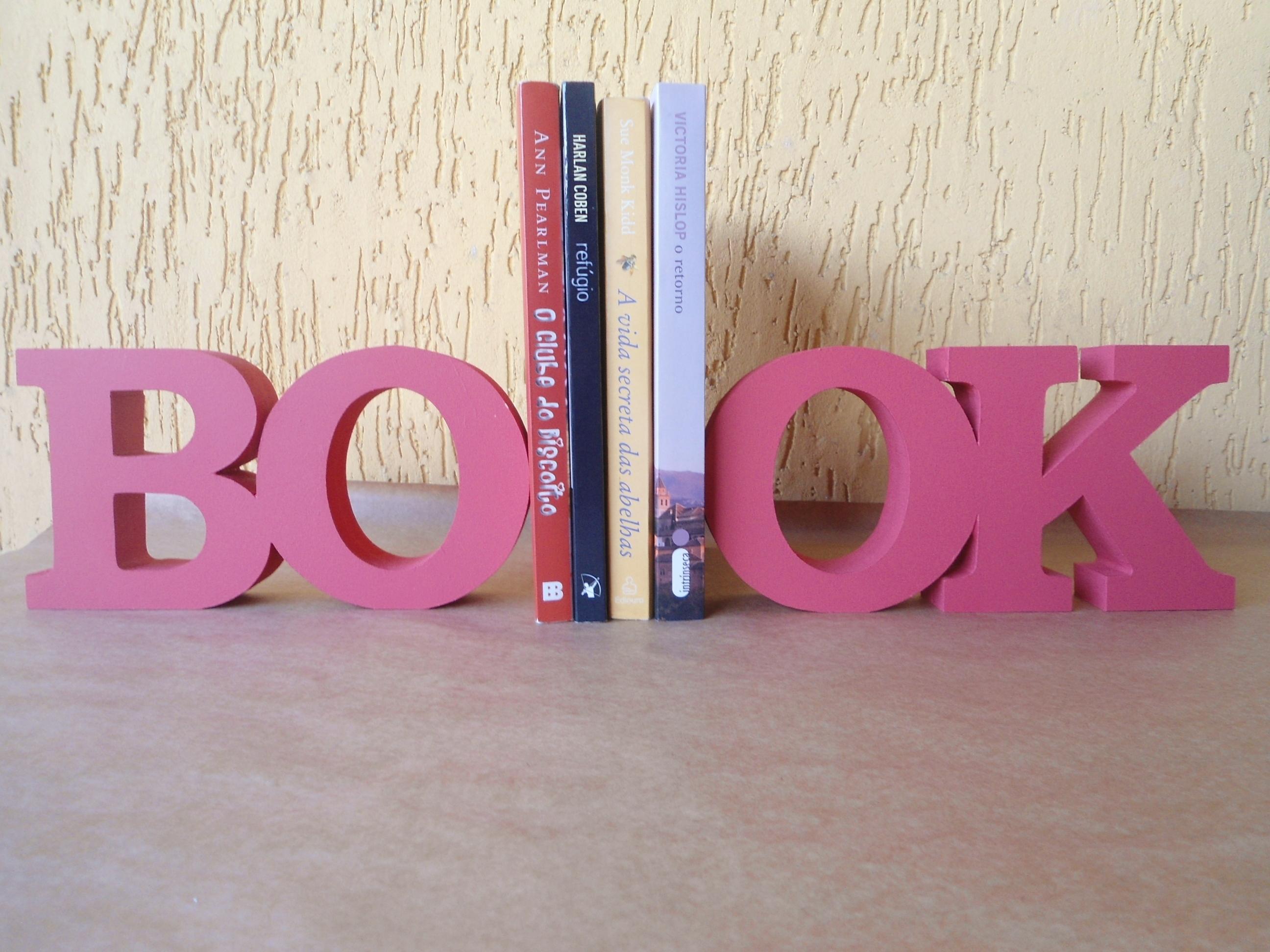 Aparador Livros Mdf ~ Book suporte de livros Toda Cor Decor Elo7