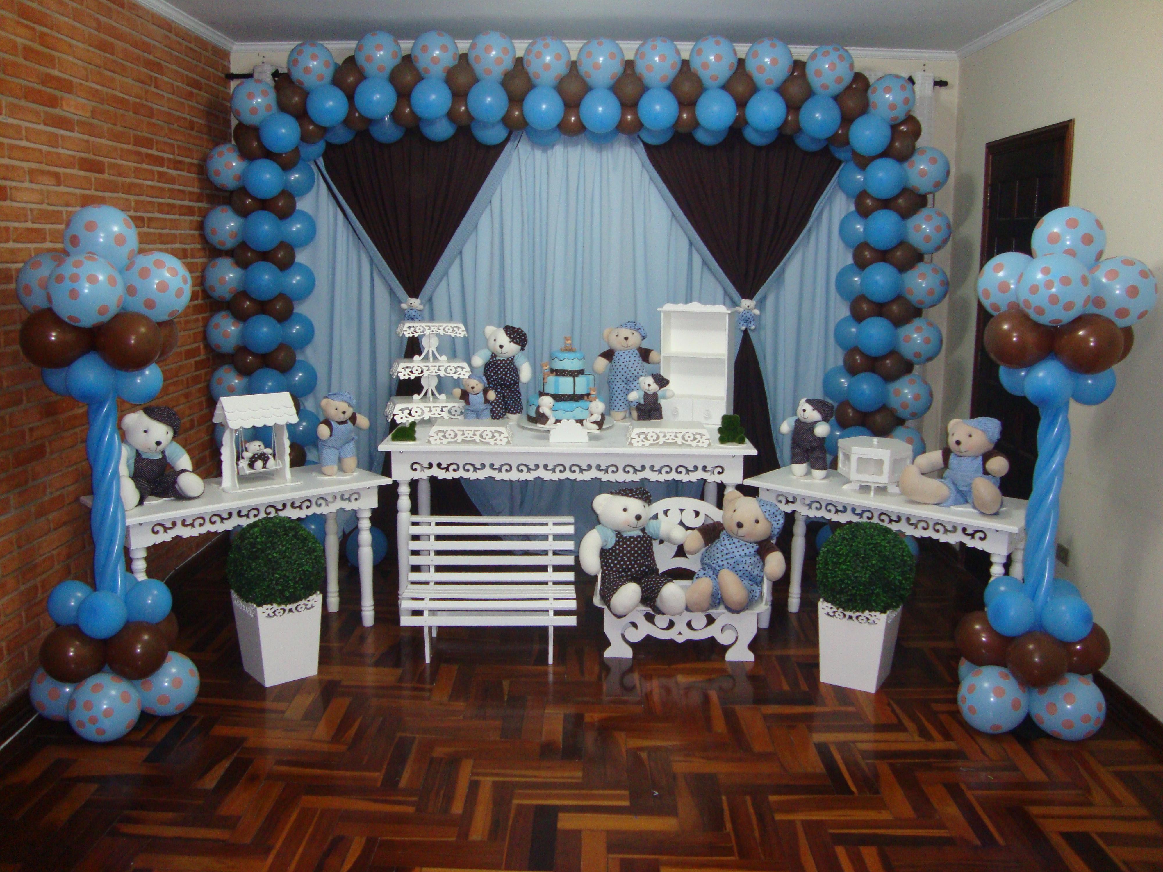 decoracao festa urso azul e marrom:clean urso marrom e azul decoracao decoracao clean urso marrom e azul