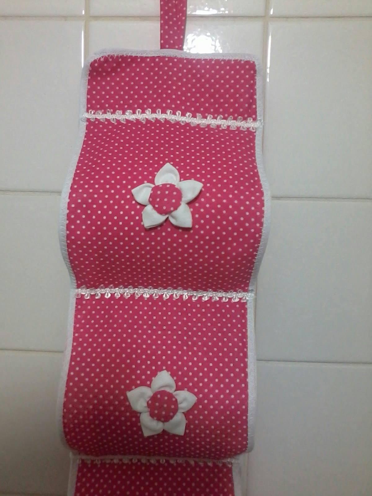 Porta papel higi nico de tecido simone borba artesanatos for Accesorios para bano papel higienico