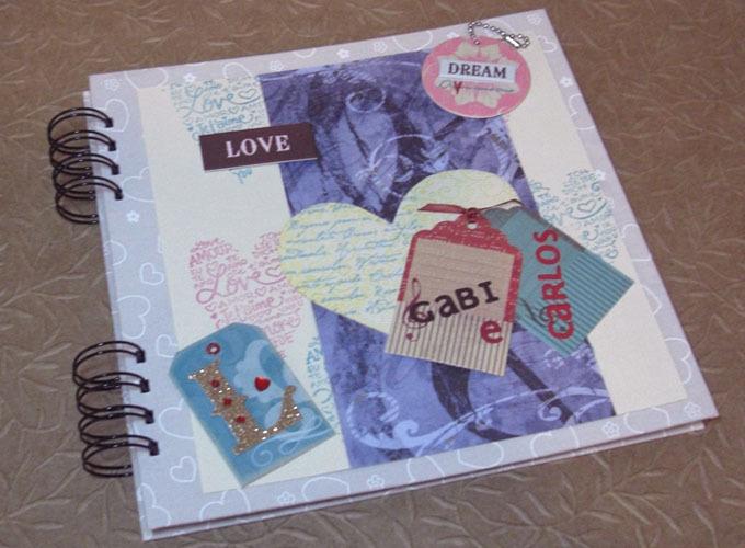 Lbum love p ginas decoradas talento criativo elo7 for Paginas decoradas
