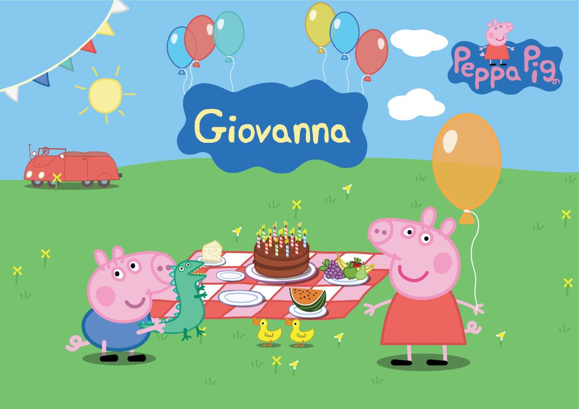 Peppa Pig Painel Placa De Parede