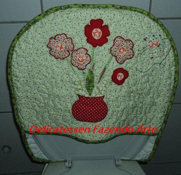 Kit Banheiro Em Tecido : Conjunto de banheiro estampada ateli? amor e arte