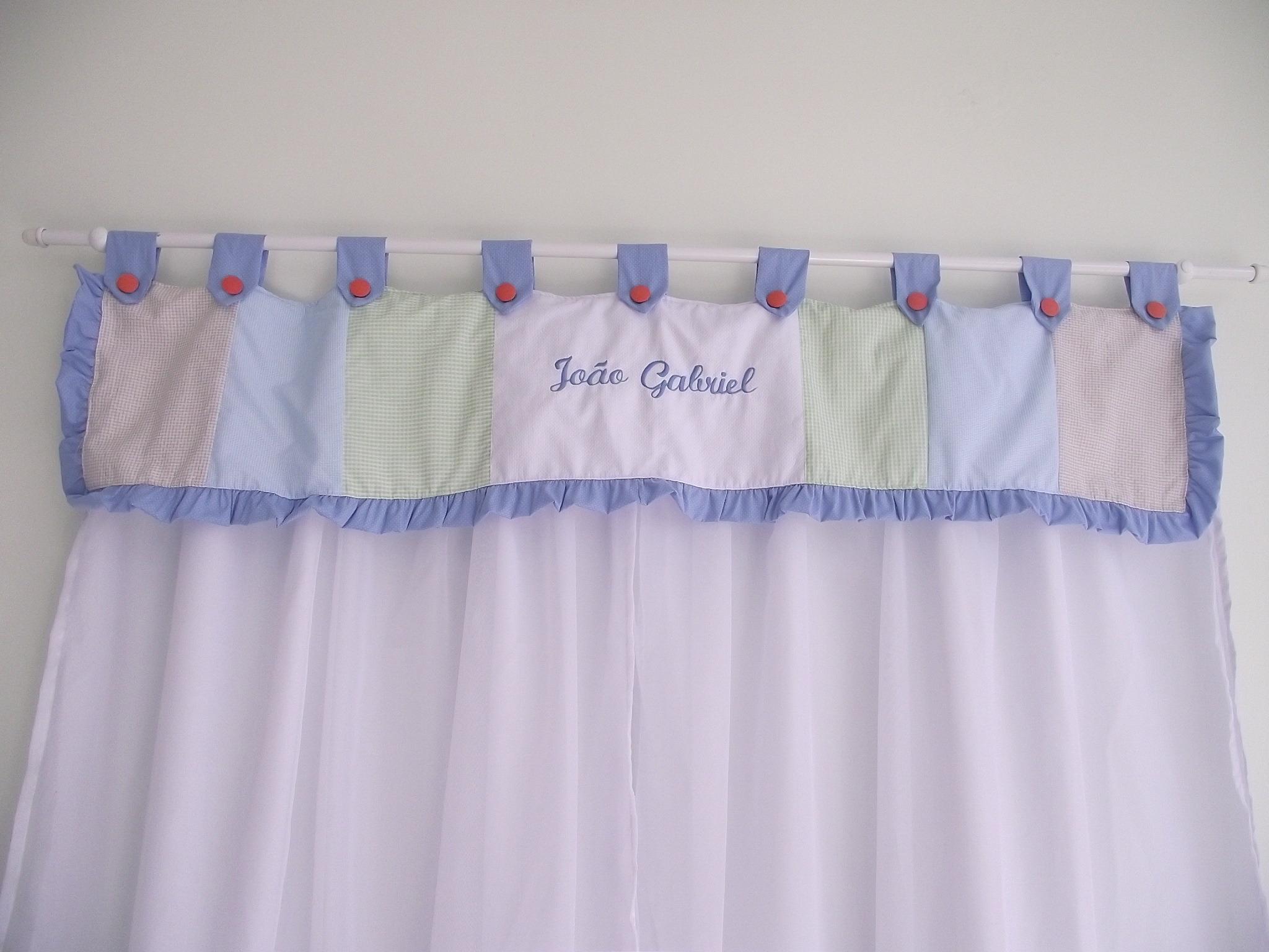 Cortina para quarto beb personalizada sonho de beb - Cortinas para bebe ...