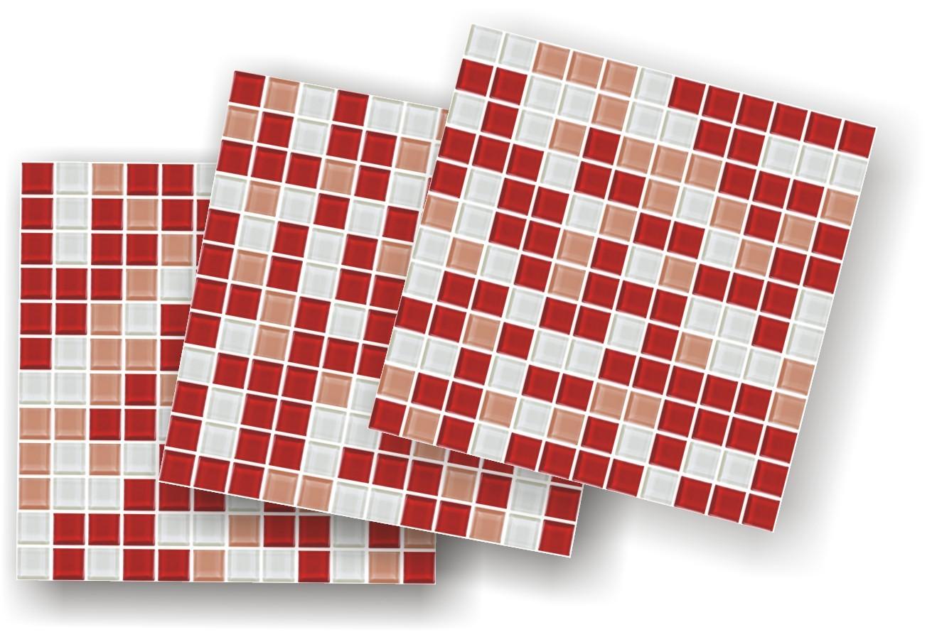 parede adesivo pastilha vermelha frete gratis adesivo adesivo pastilha  #A62825 1311x890 Banheiro Com Azulejo Tipo Pastilha