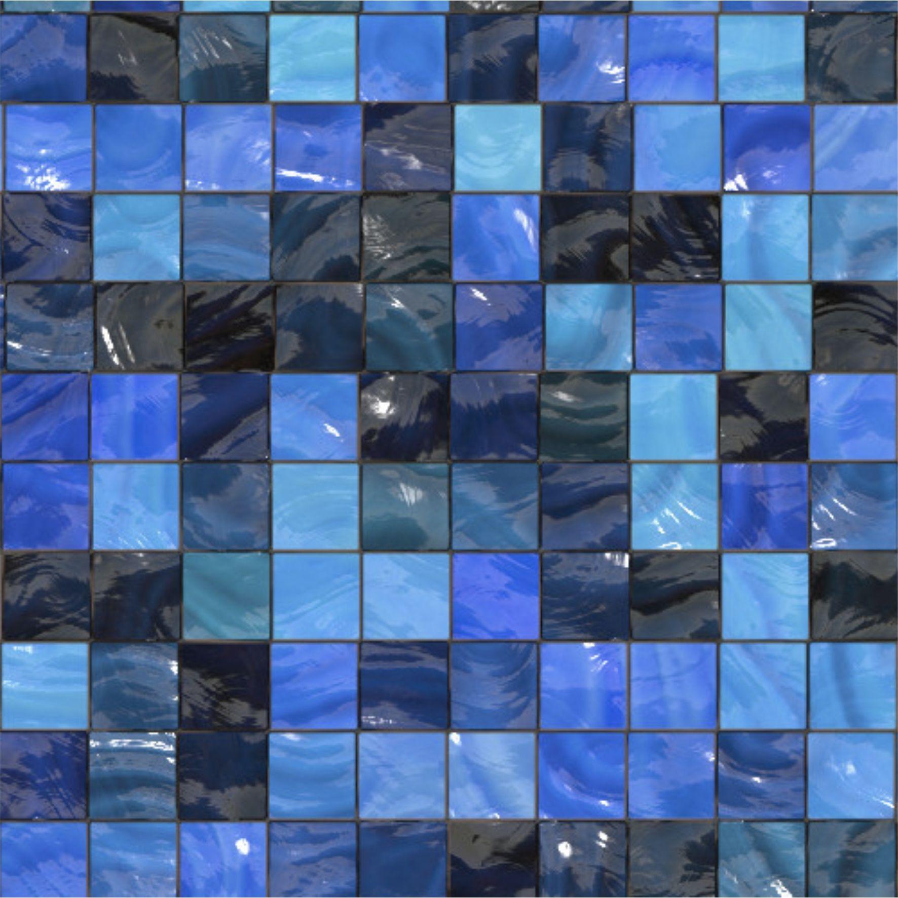 Kit Adesivo Pastilha Azul Frete Grátis On The UAU Adesivos #1F6FAC 1772x1773 Banheiro Azul Pastilha