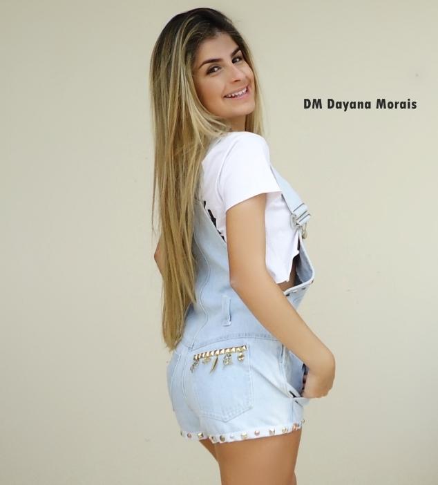 Vestido jardineira feminino em jeans elo7 for Jardineira jeans infantil c a