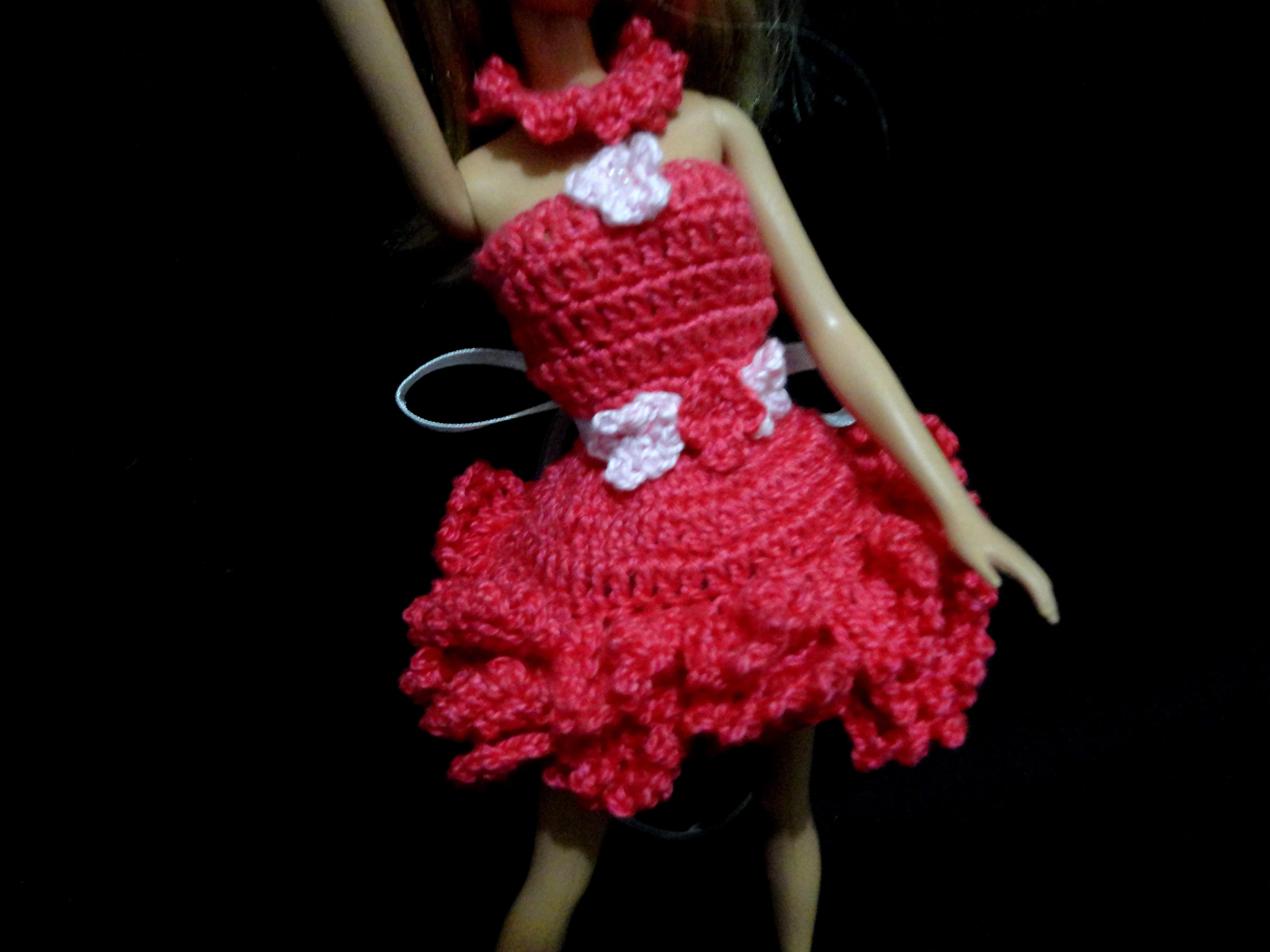 conjunto quarto da barbie em croche vestido da barbie.jpg #89111F 4608x3456 Banheiro Da Barbie Mercadolivre