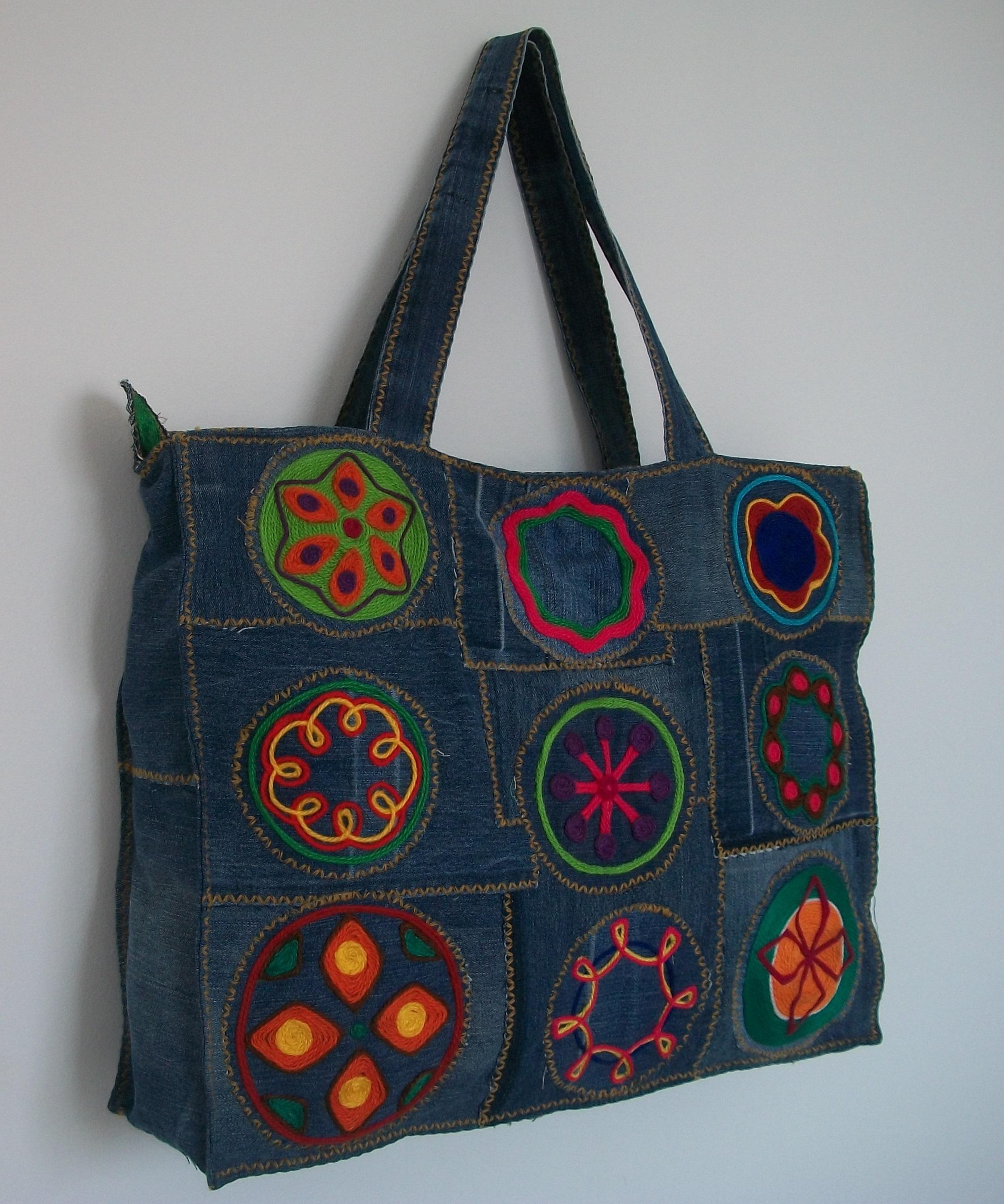 Bolsa De Tecido Artesanal : Bolsa artesanal trecos de pano por val?ria monteiro