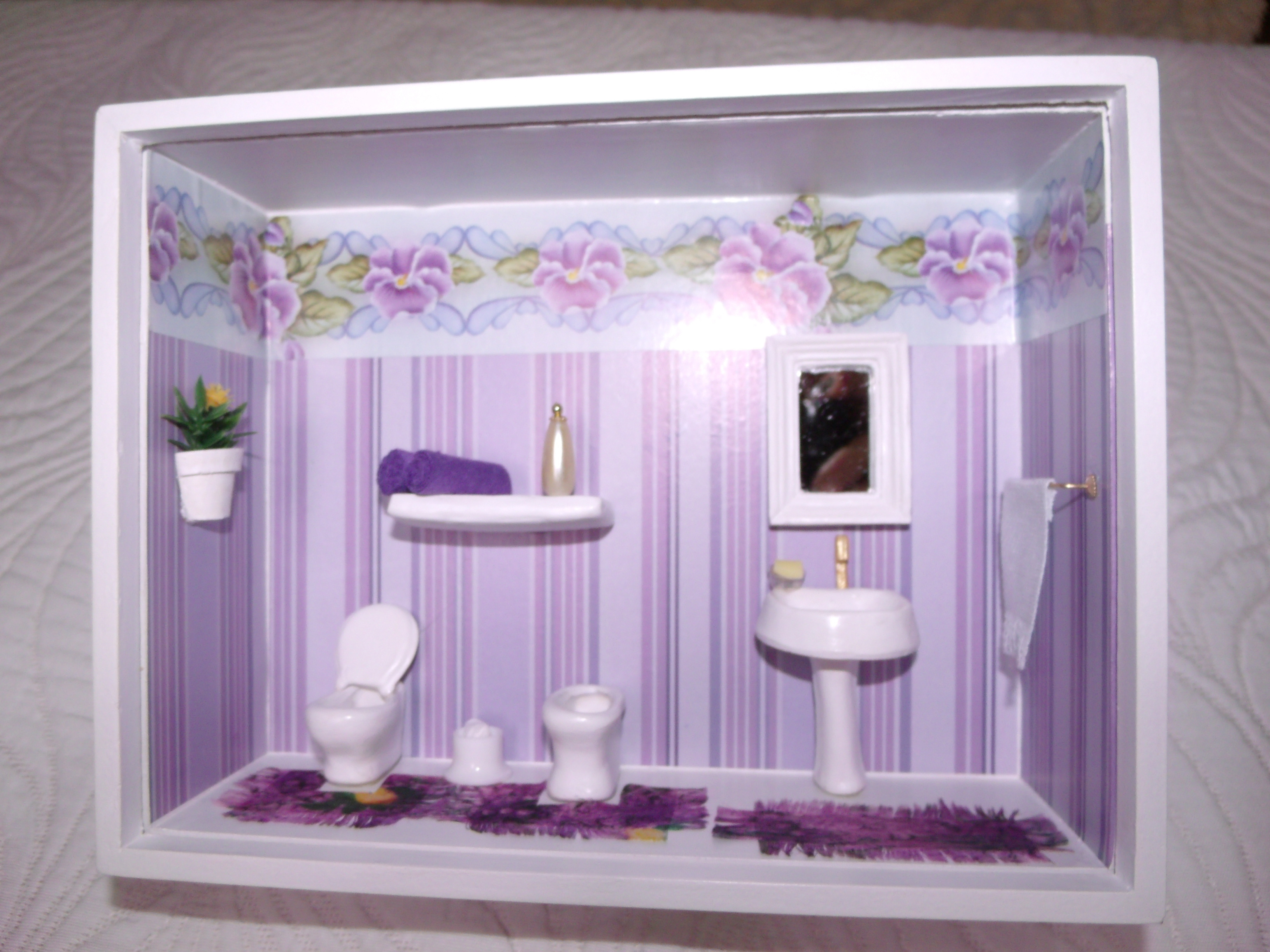 Pin De Banheiro Cerâmica Branca 150×150 Pisos – Modelos on Pinterest -> Decoracao De Banheiro Com Quadro