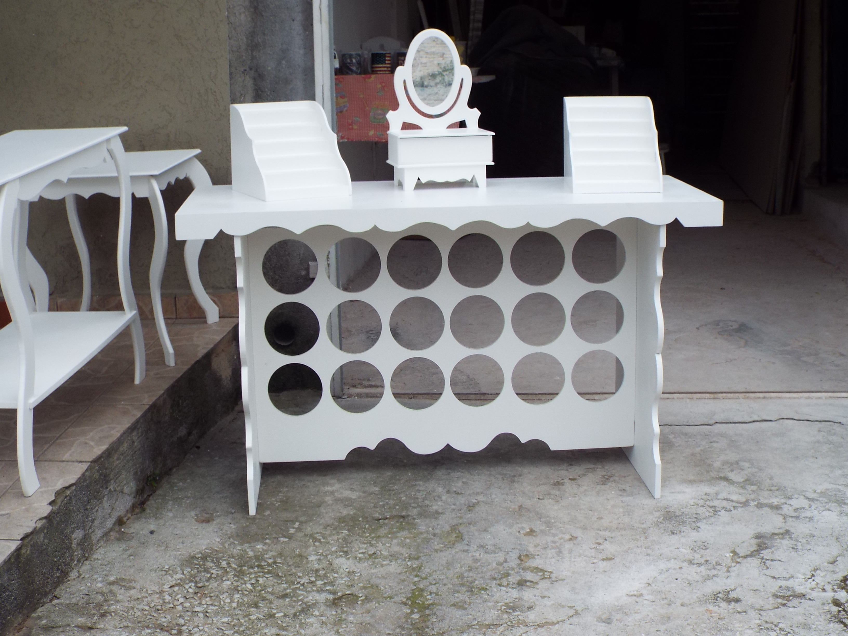 Mesa para decoração de festas OPHICINA DE ARTES EM MDF Elo7 #5F4F49 3264x2448