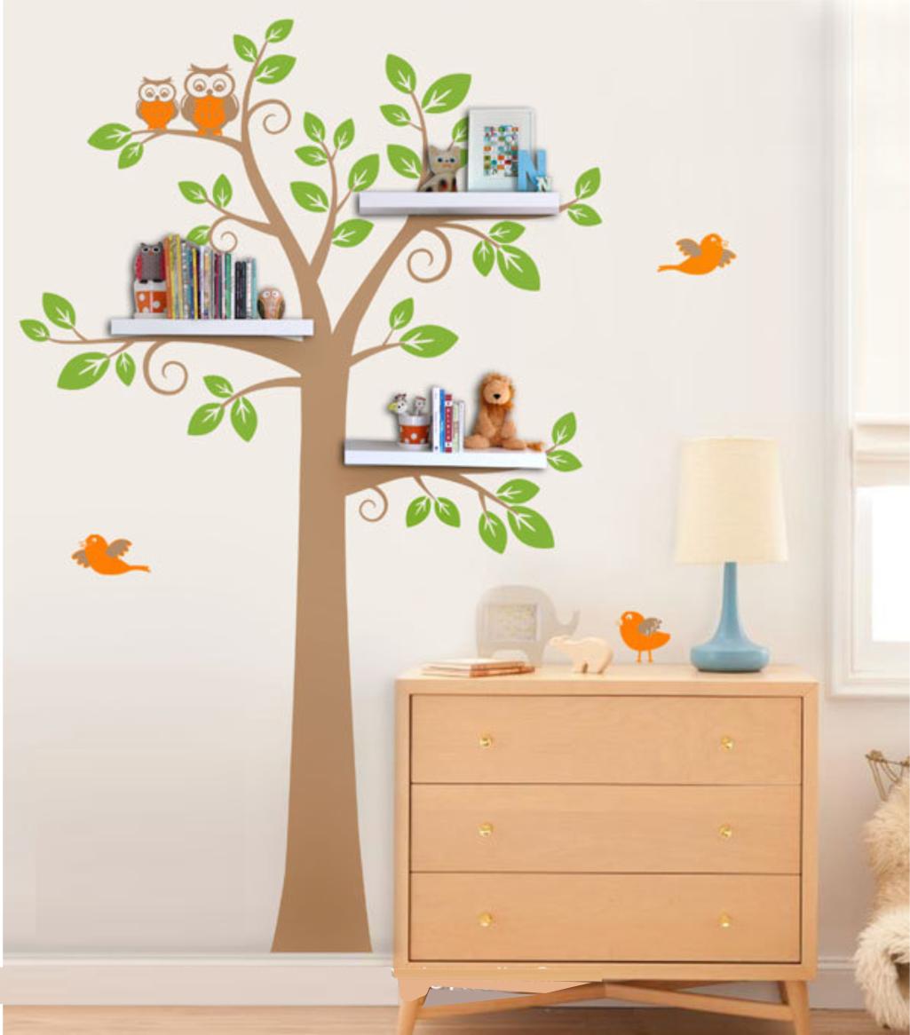 Adesivo Árvore para Prateleiras  33D73D  ADcorista Arte & Decoração  Elo7