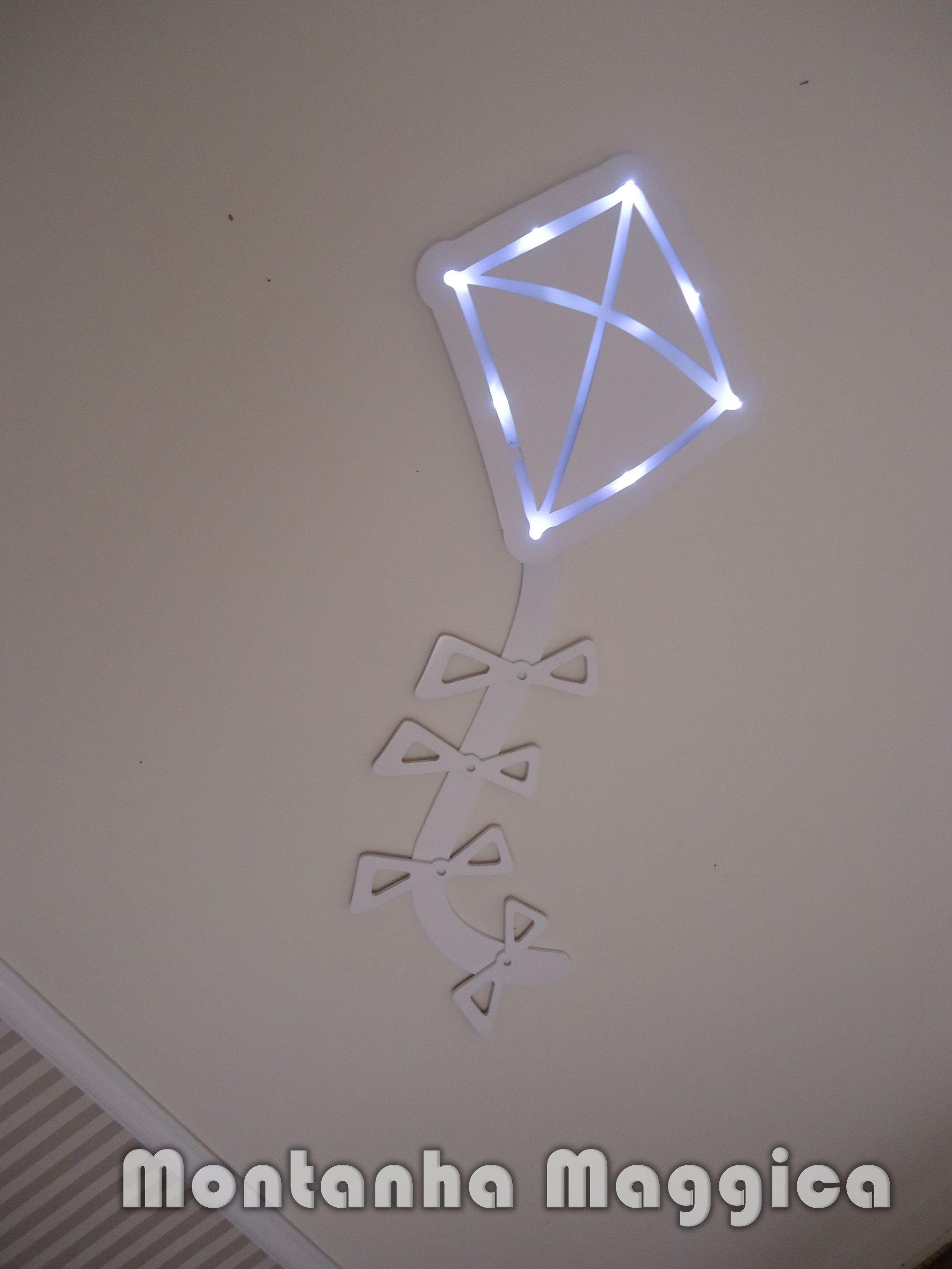 Quadro Para Quarto De Bebe Com Led ~   iluminacao de led led quadro pipa com iluminacao de led quadro menino