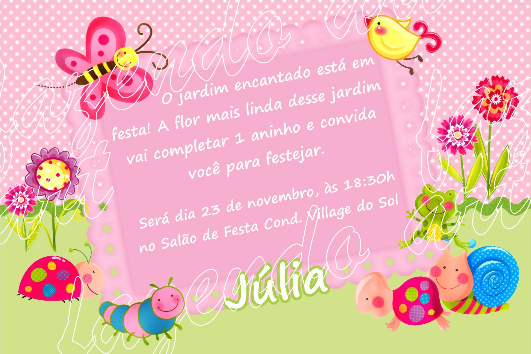 festa aniversario infantil jardim zoologico:arte-digital-convite-jardim-encantado-festa-jardim-encantado
