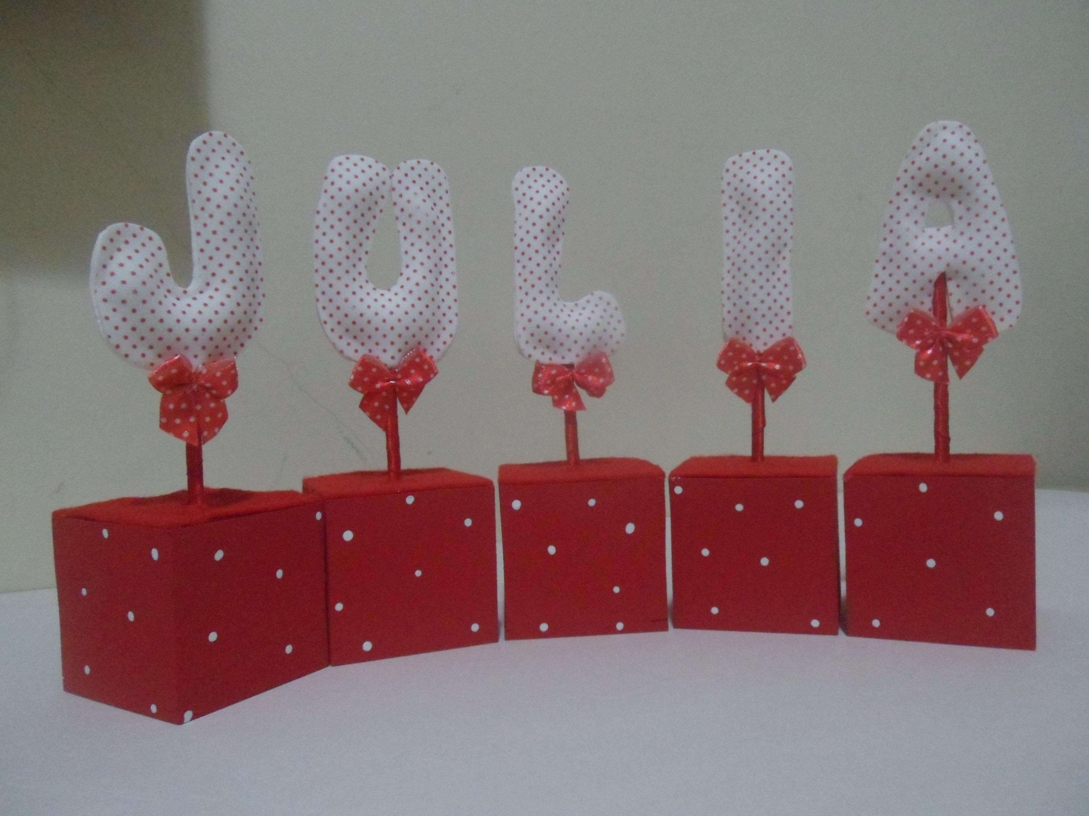 Letras decorativas para mesa artes e trakinagens elo7 - Letras decorativas pared ...
