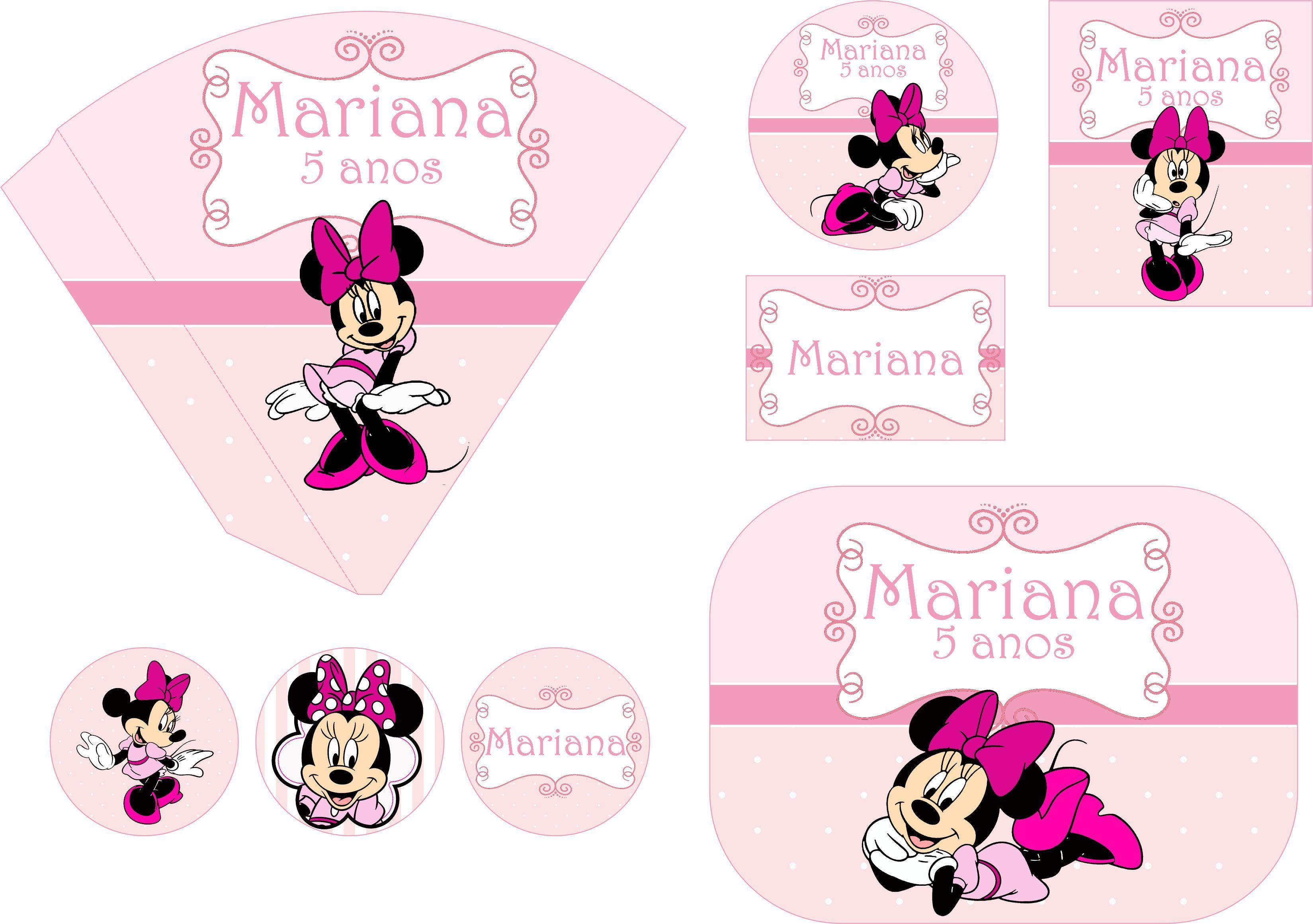 Festa Personalizada Minie Rosa Festa Personalizada da  ~ Quarto Rosa Da Minie