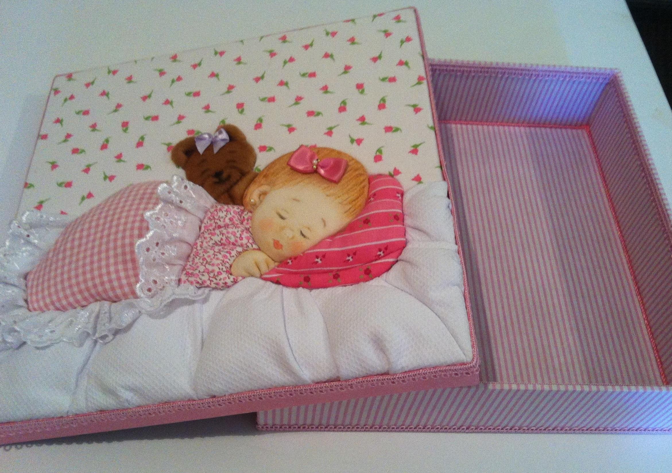 Caixa patchwork embutido beb manta rosa la arote - Como hacer mantas de patchwork ...