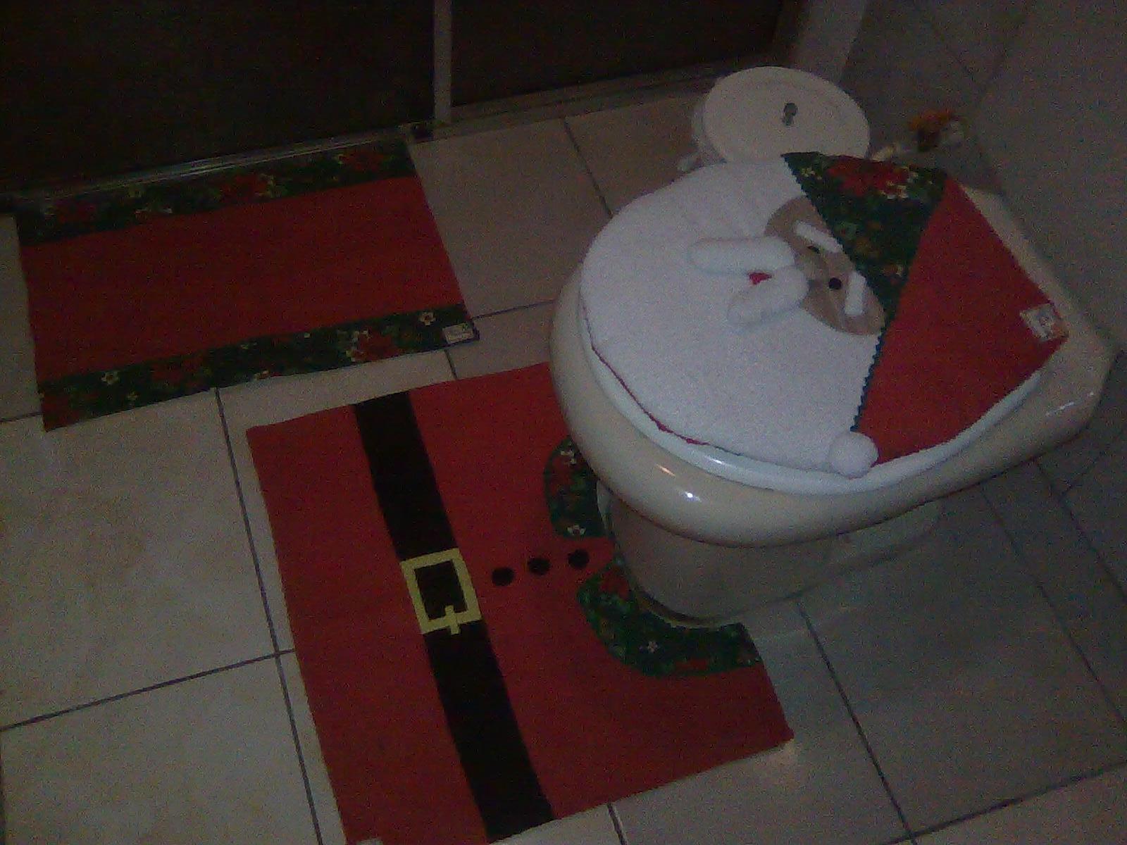 de banheiro natal banheiro jogo de banheiro natal decoracao jogo de  #352422 1600x1200 Banheiro De Gato Como Fazer