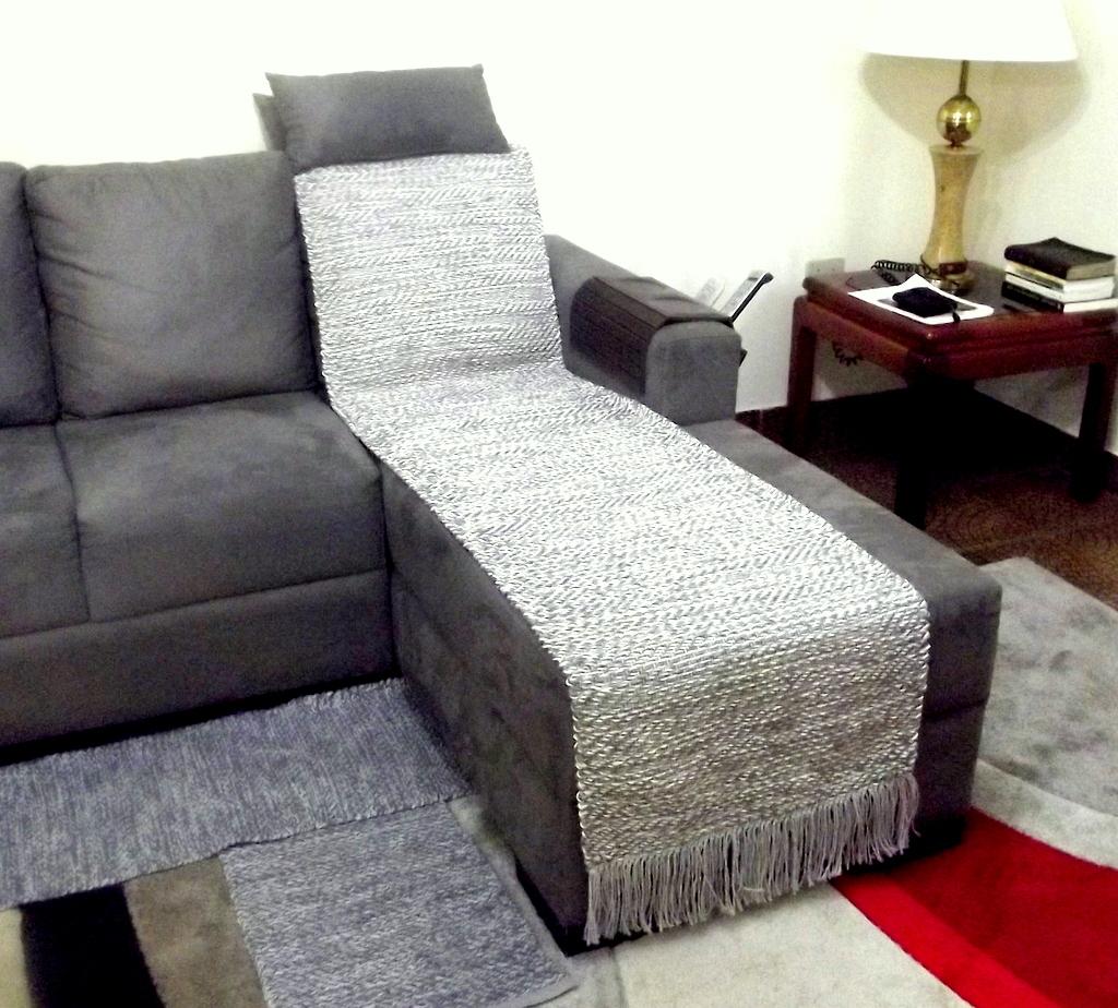 Manta para assento de sof tearte elo7 for Mantas para sofas