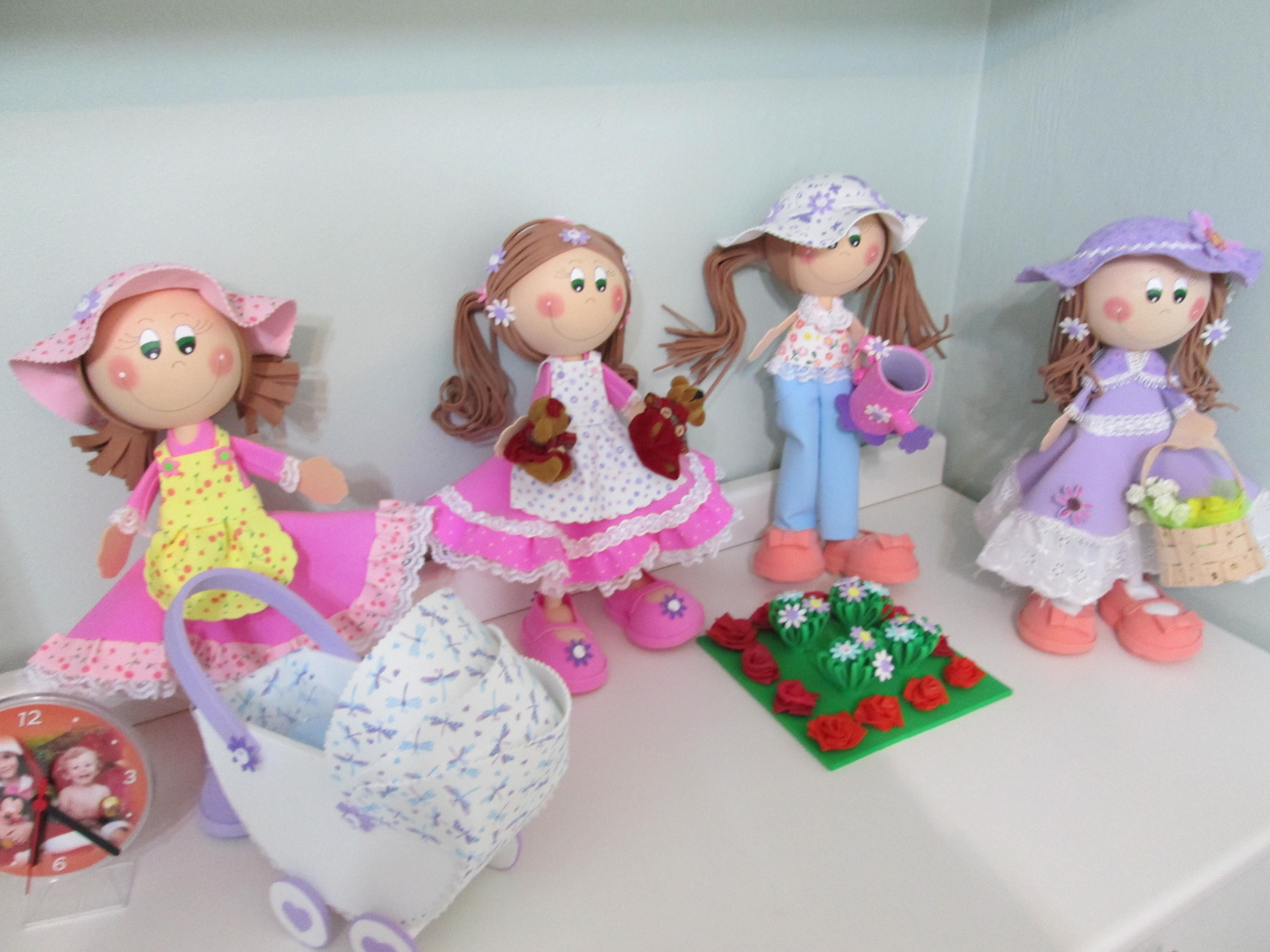 decoracao no jardim:kit-decoracao-bonecas-no-jardim-bonecas-em-eva