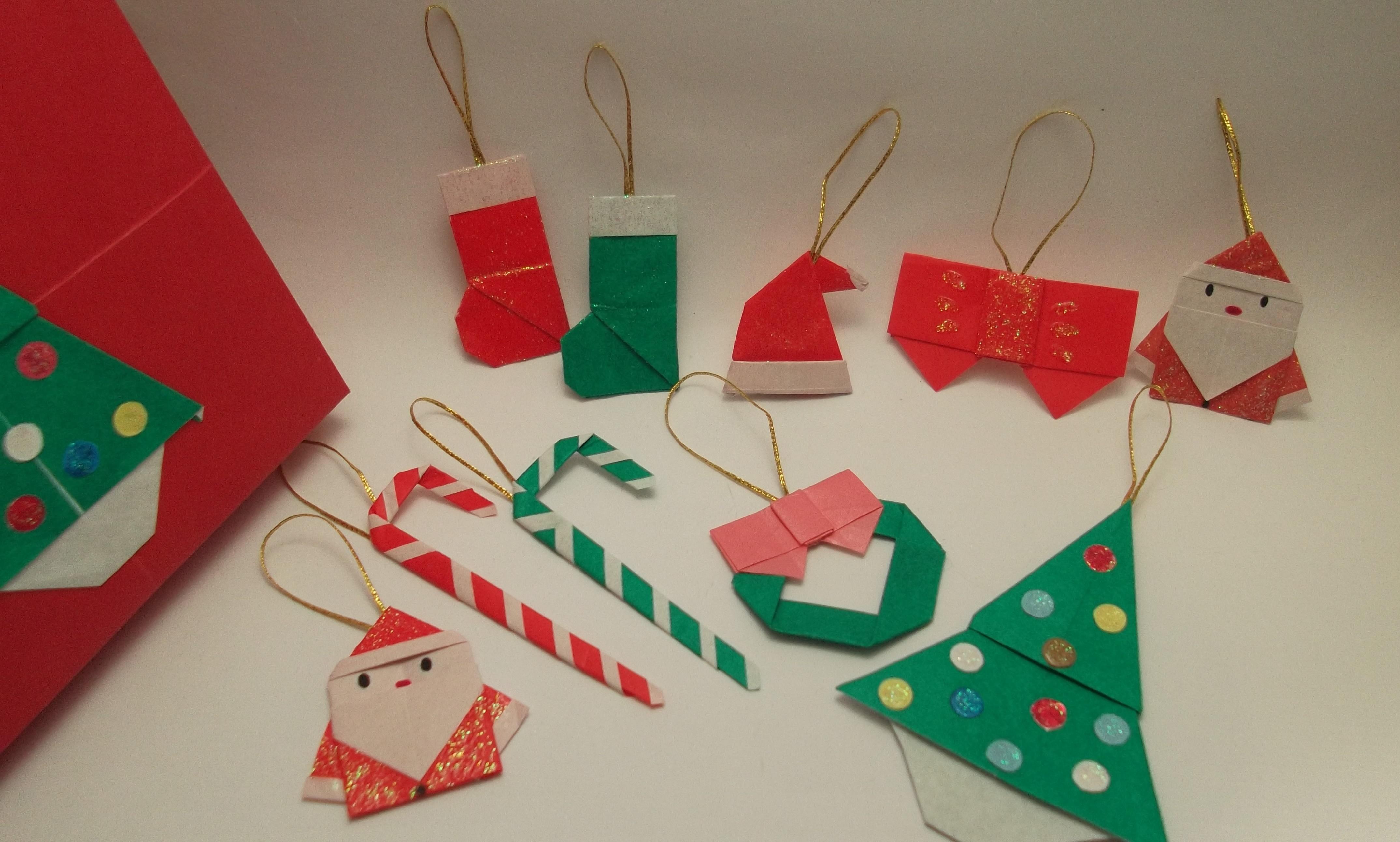enfeites de natal para jardim passo a passo : enfeites de natal para jardim passo a passo:de natal kit enfeites de natal de origami origami kit enfeites de