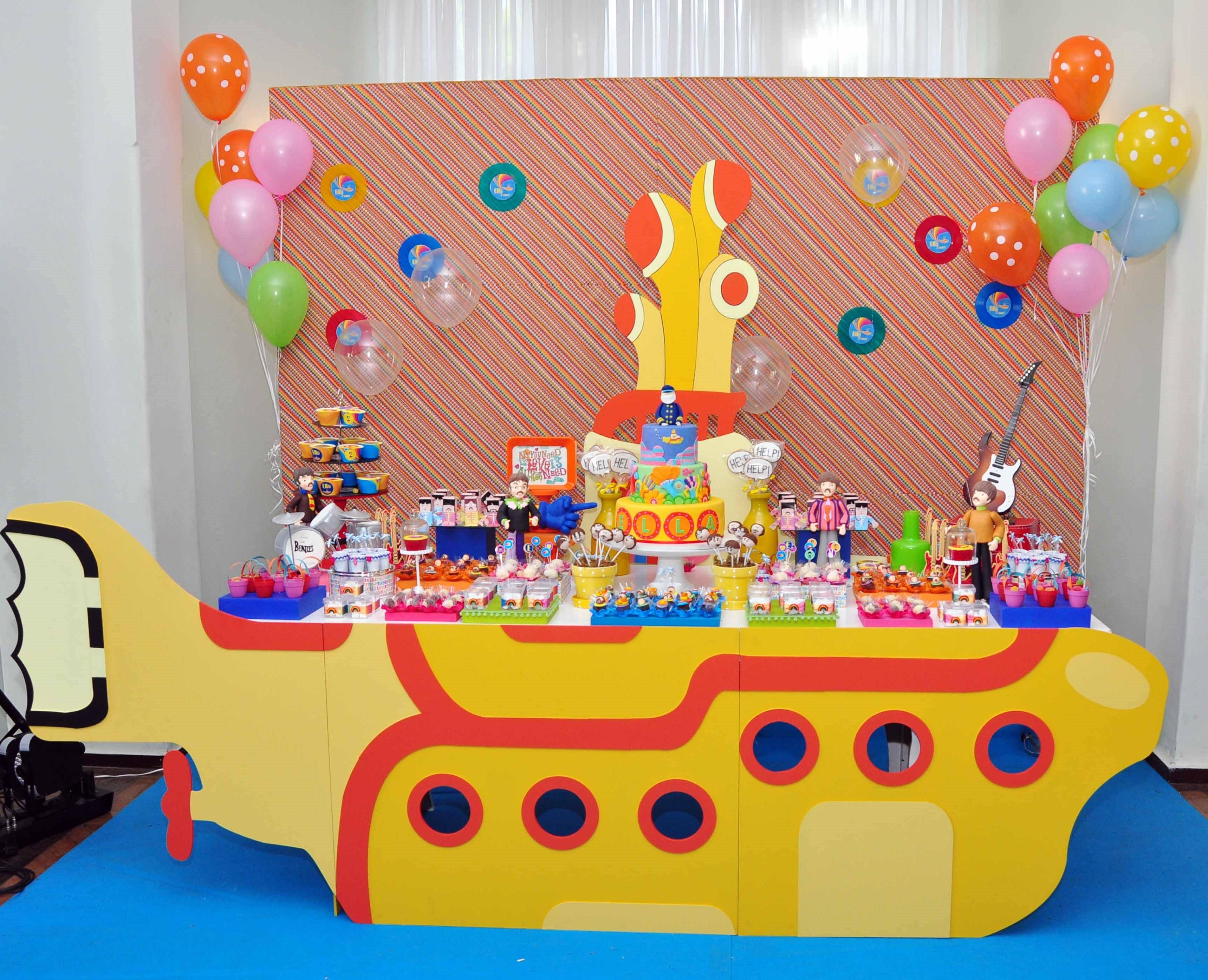 decoracao festa infantil yellow submarine:festa submarine festa submarine festa submarine festa personalizada