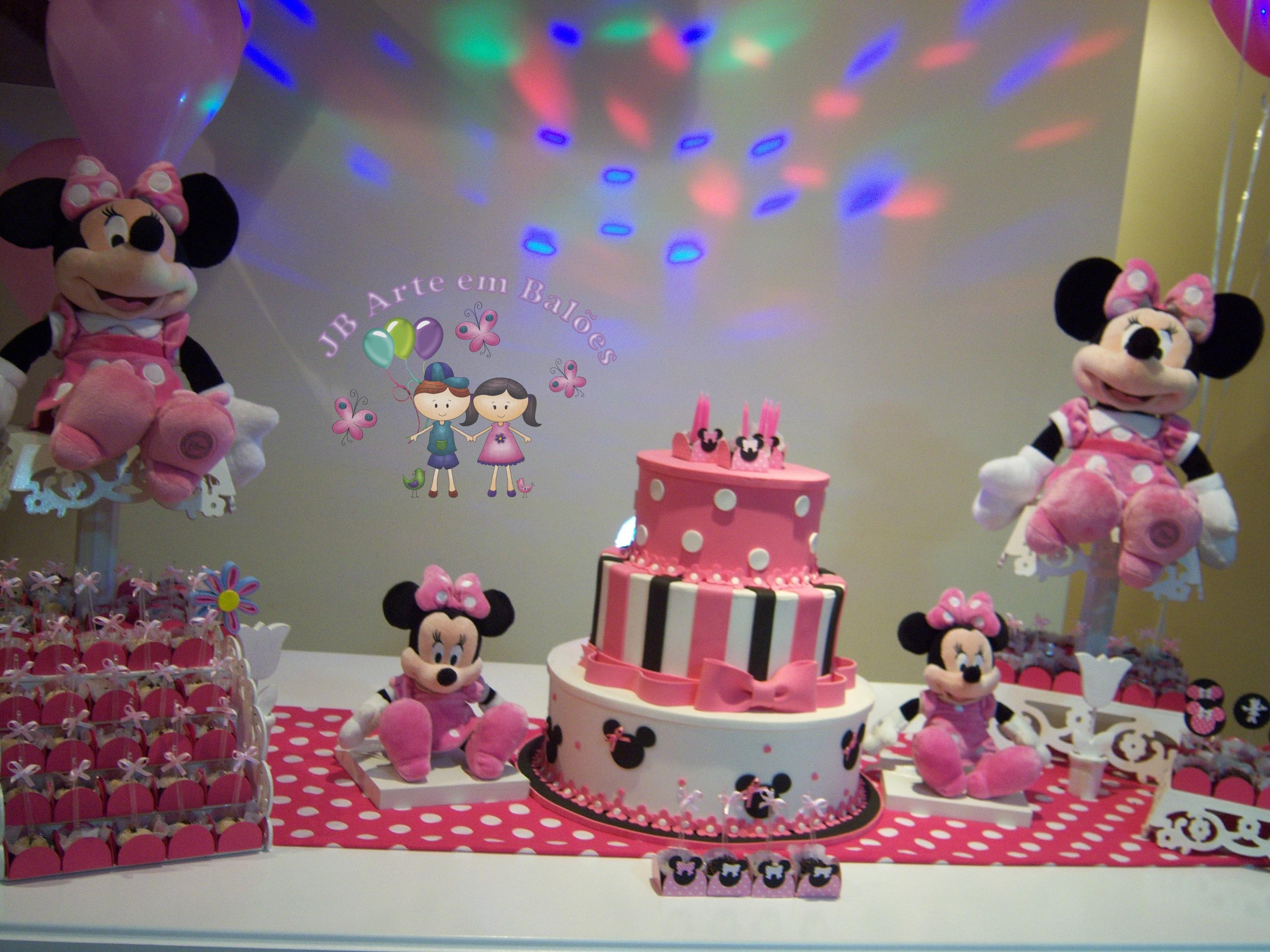 decoracao festa minnie rosa : decoracao festa minnie rosa:Decoração Minnie Rosa com Mesa Provençal Decoração Minnie Rosa