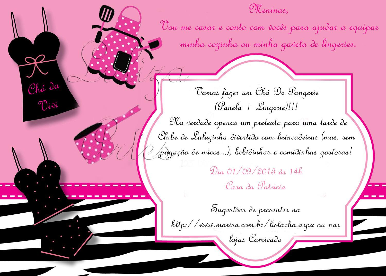 b459eaee09a9f1 Chá de cozinha e lingerie juntos! - CHA DE PANGERIE!!!