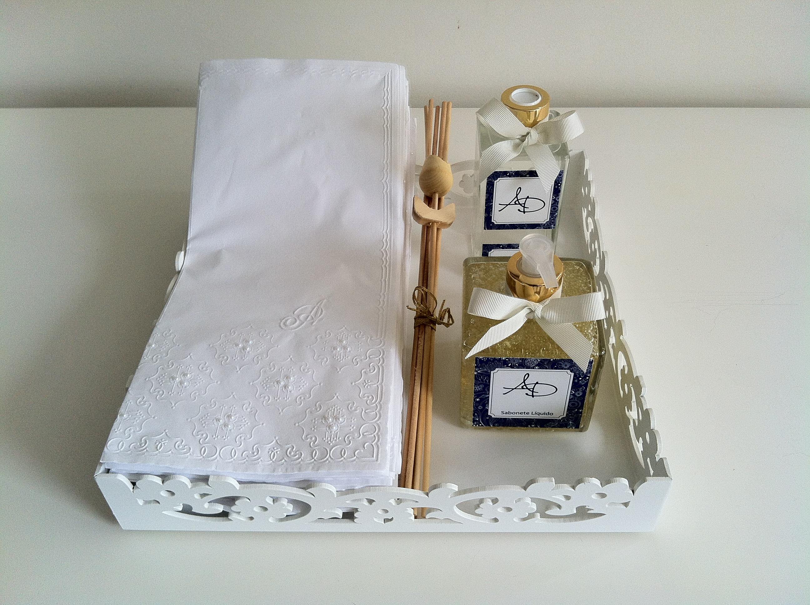 :kit lavabo com bandeja e toalha de papel aromatizador kit lavabo #644927 2592x1936