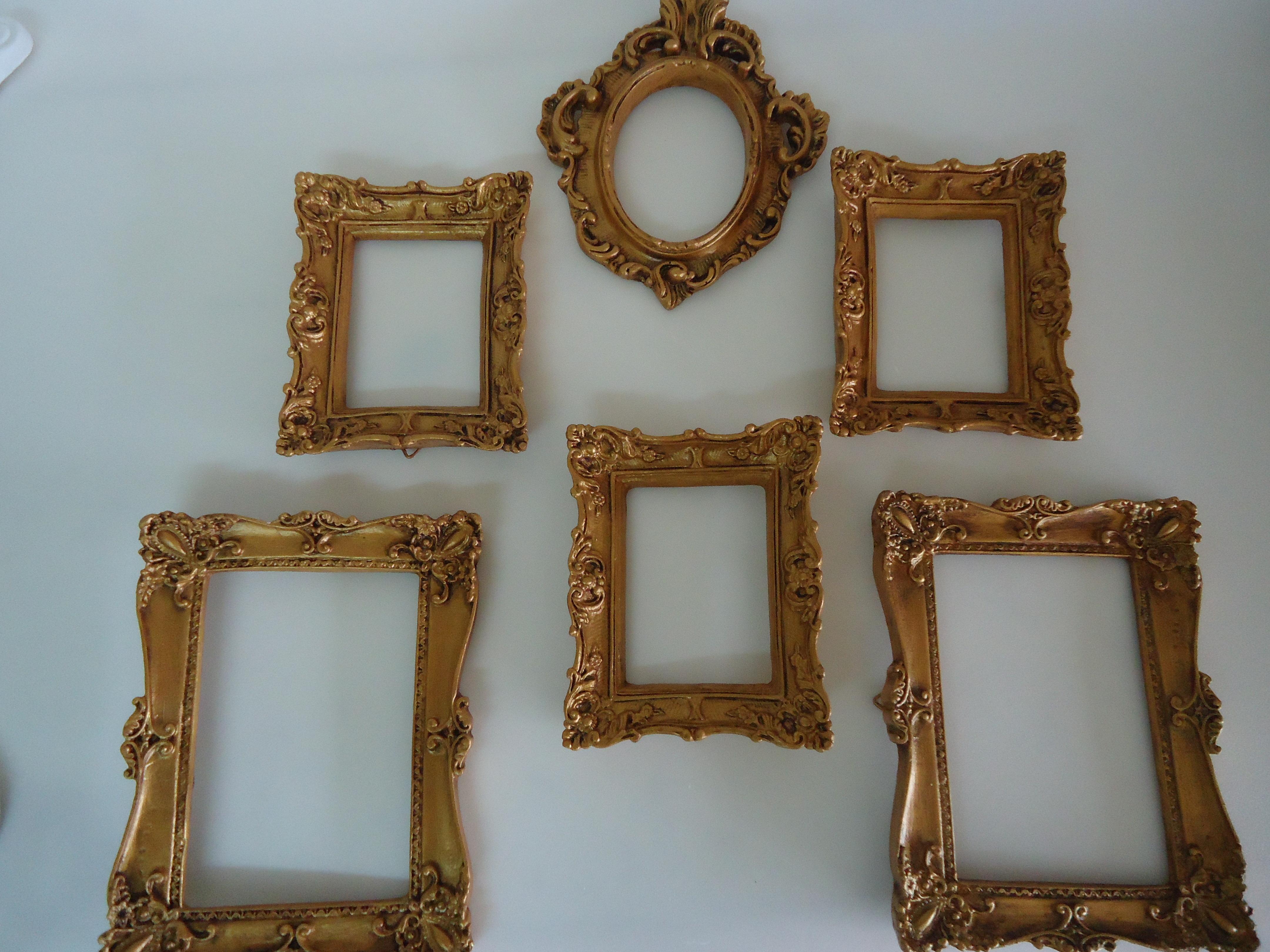 espelhos porta retratos ouro velho pront fuxicando arte em tecido elo7. Black Bedroom Furniture Sets. Home Design Ideas