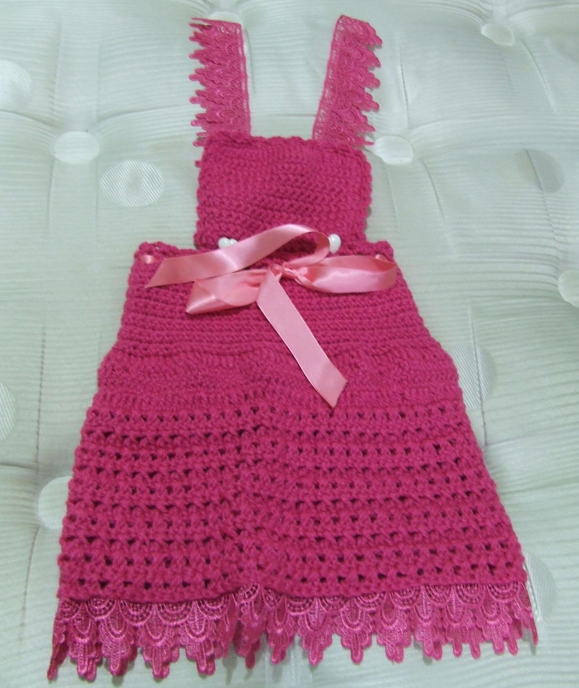 Broche infantil croch rose art fibra croch e for Jardineira infantil c a