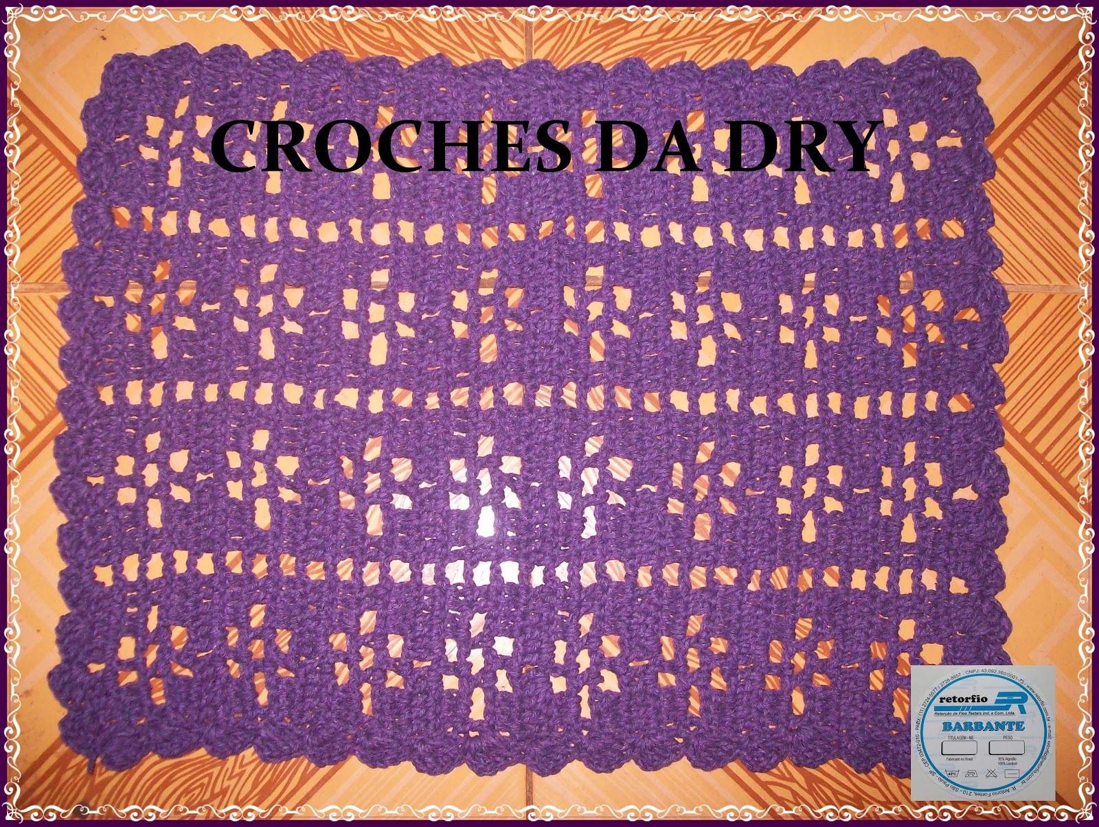 Tapete simples em crochê  Croches por encomendas  Elo7 -> Tapete Para Banheiro Croche Simples