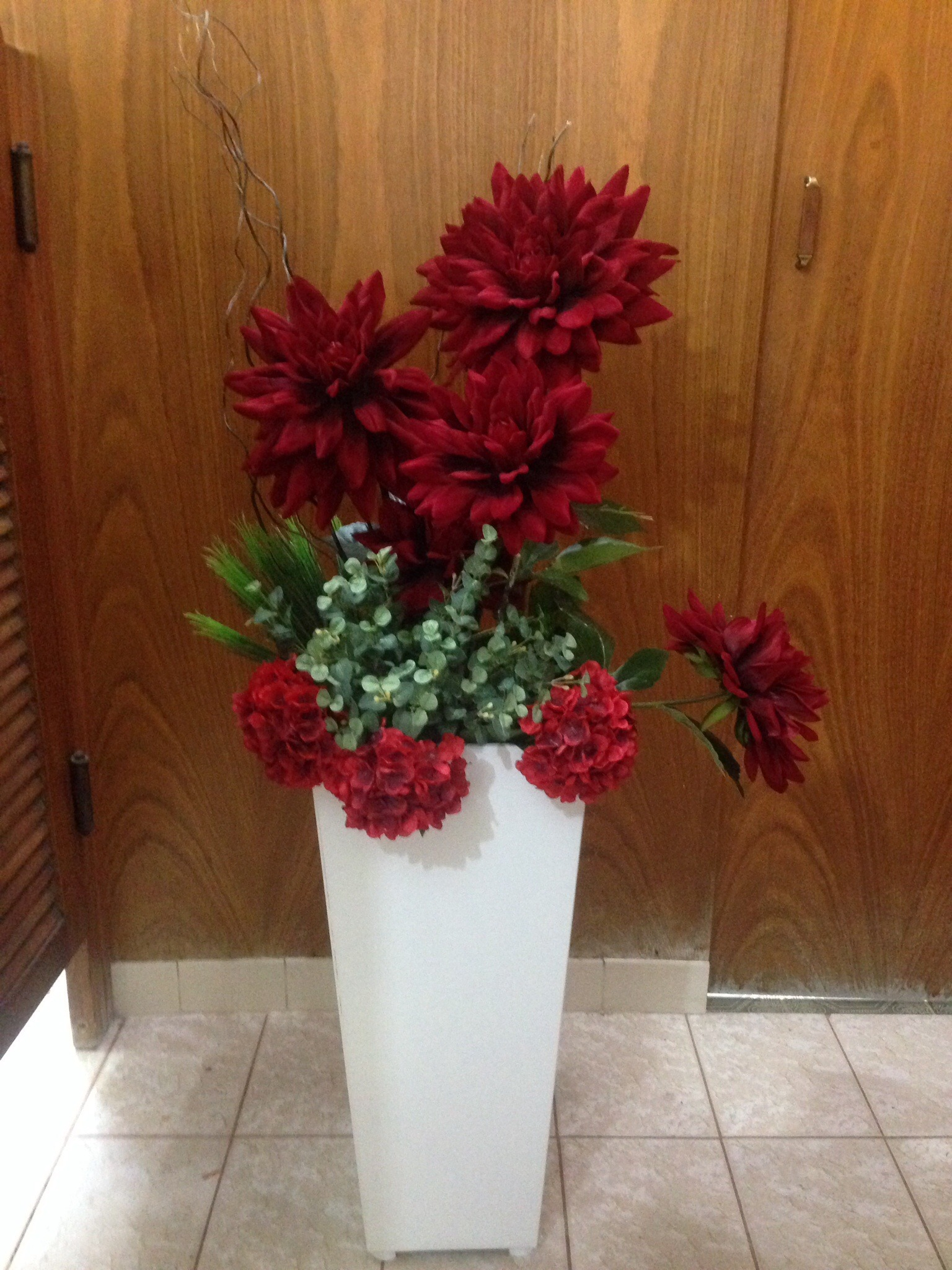 Vaso bot es de flores em tecido grande ponto baby elo7 for Vaso grande