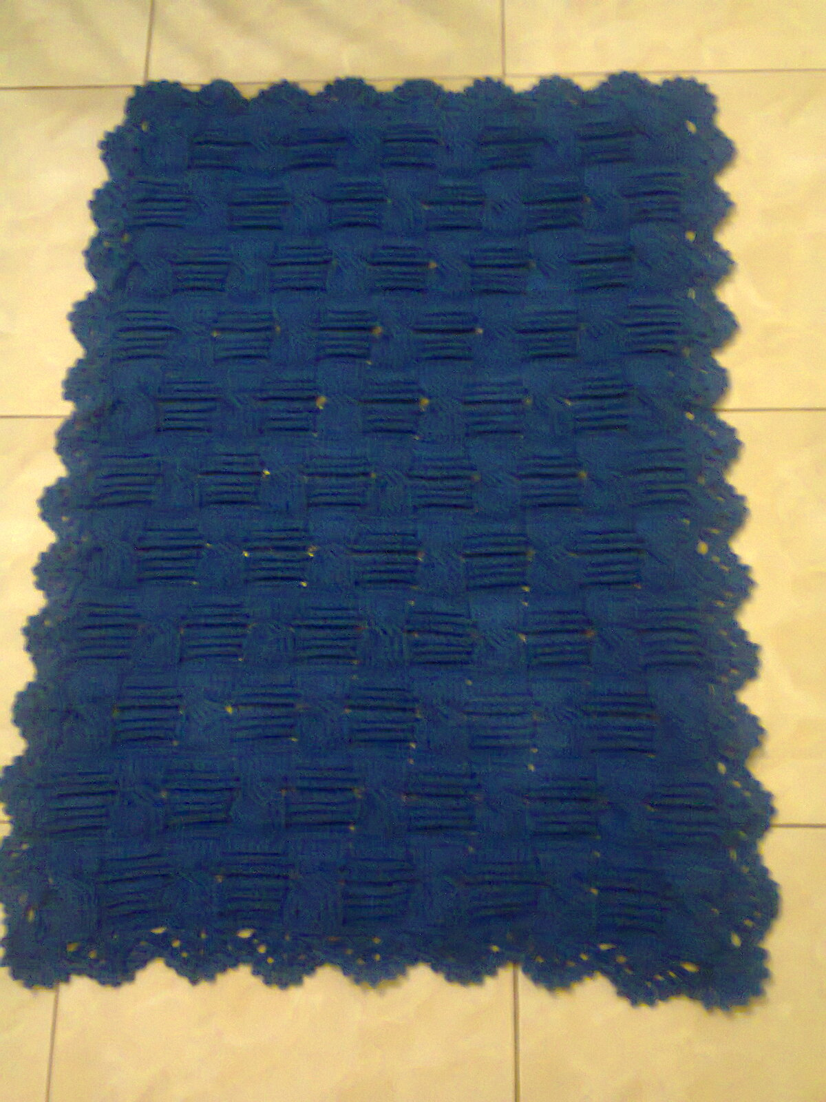 tapete de sala retangular em croche tapete de croche azul marinho  #C79A04 1200 1600
