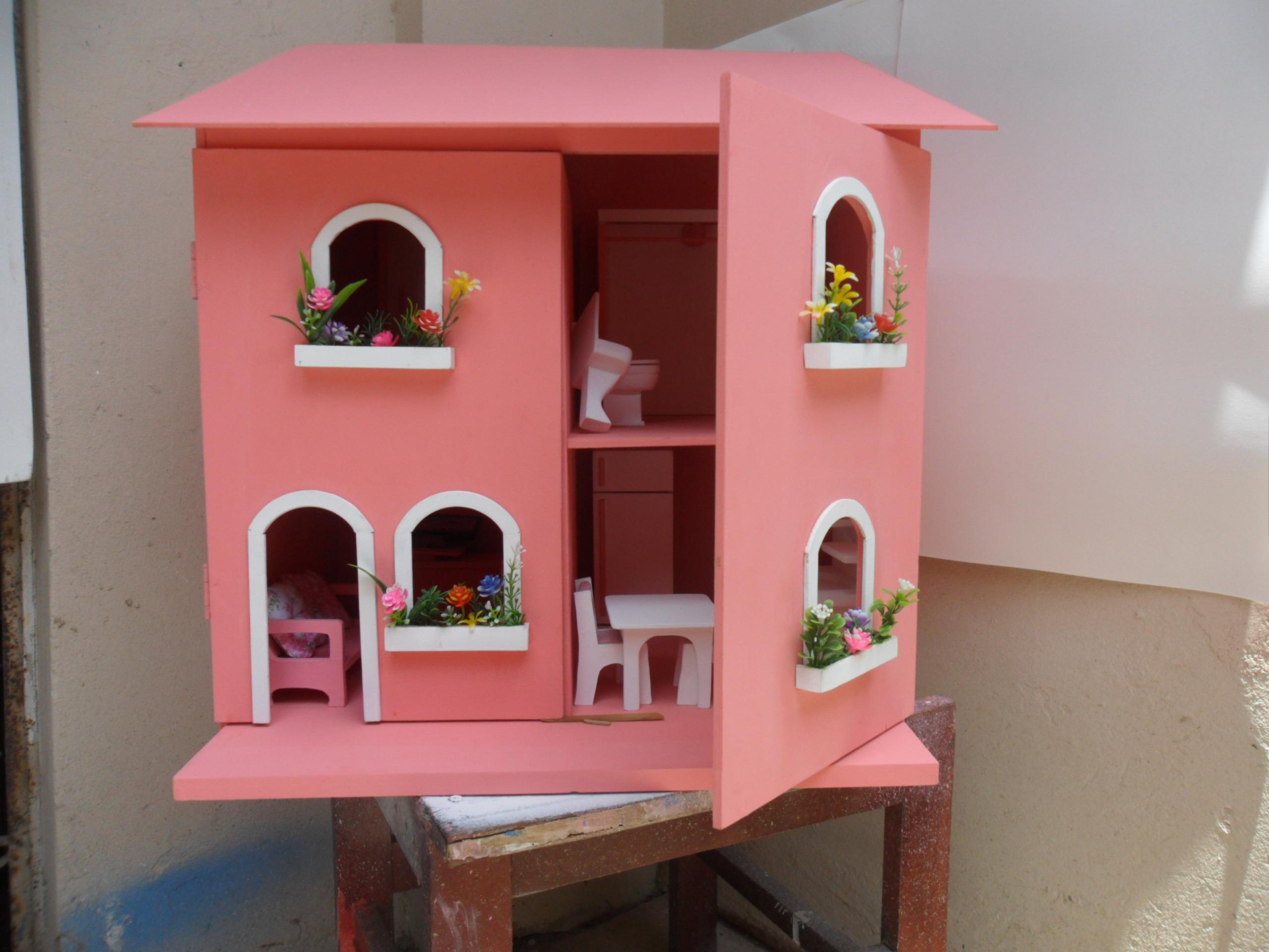 boneca casinha da barbie casinha de boneca casa de boneca em madeira #963F35 2560x1920