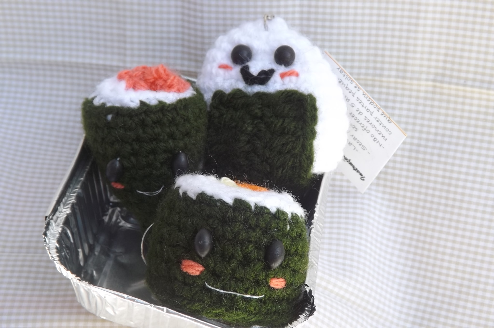Kit De Amigurumi : Kit Chaveiros Japanese Food Amigurumi Elo7