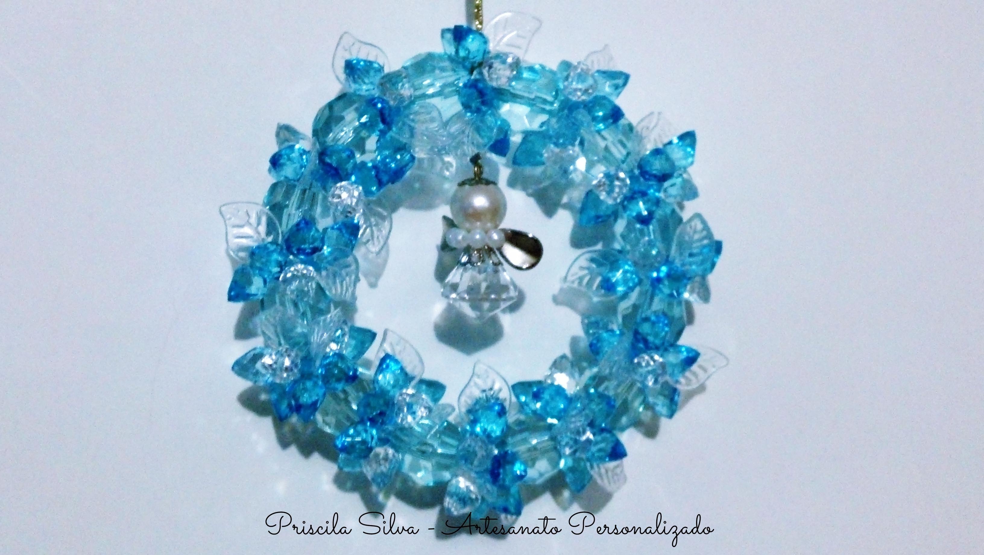 decoracao arvore de natal azul:Mini Guirlanda para Árvore de Natal Azul