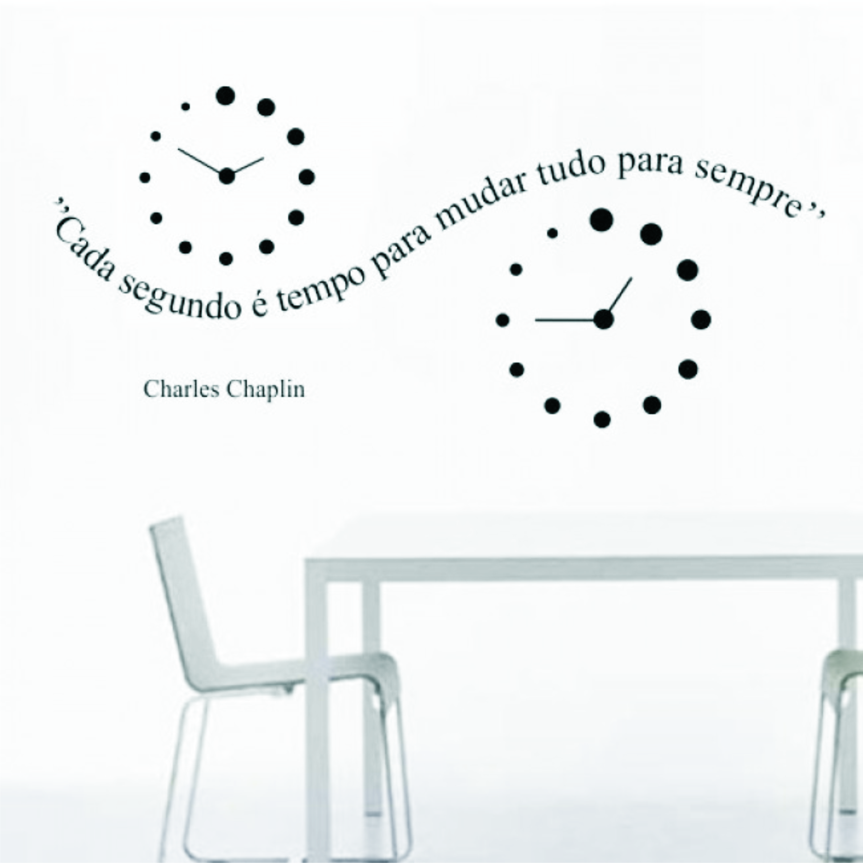 Aparador Em Ingles ~ Adesivo Decoraç u00e3o Parede Charles Chaplin Adesivos de Parede Frete GRÁTIS Elo7